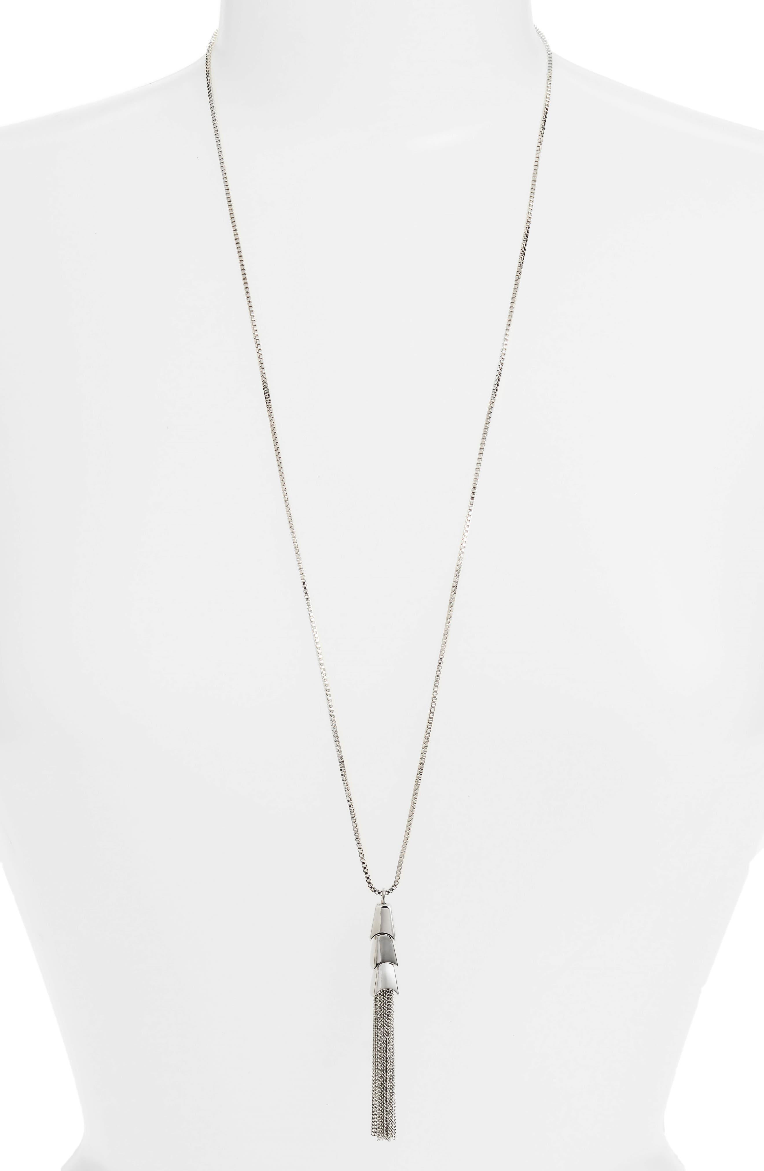 Tassel Pendant Necklace, Main, color, 041