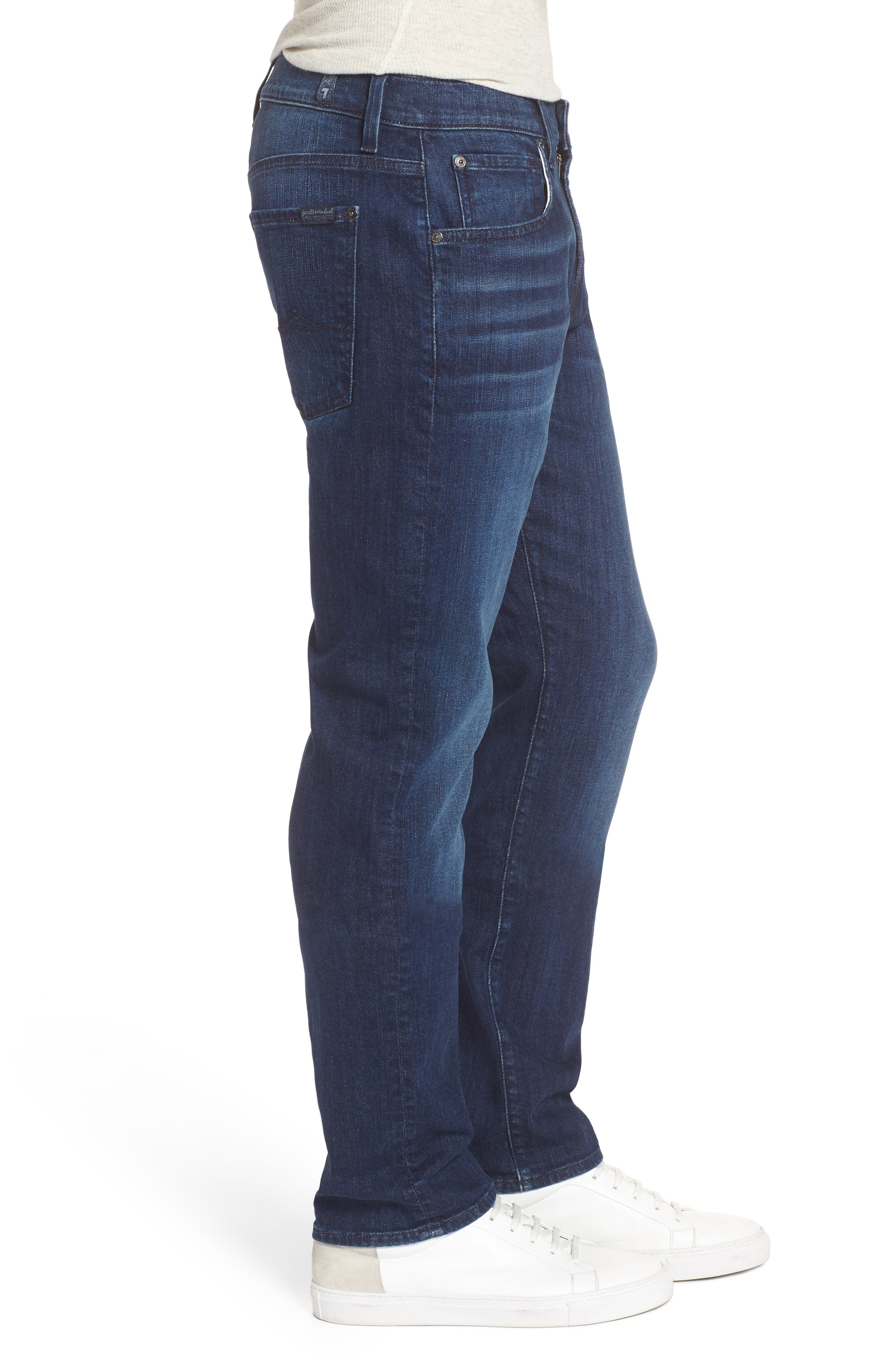 The Straight Slim Straight Fit Jeans,                             Alternate thumbnail 3, color,