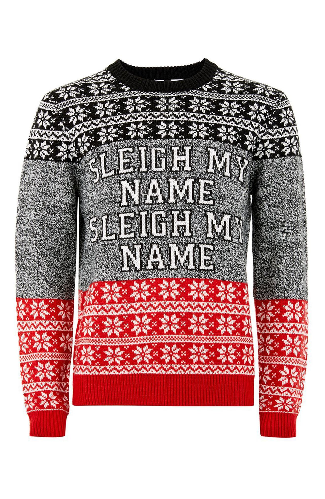 Sleigh My Name Sweater,                             Alternate thumbnail 3, color,