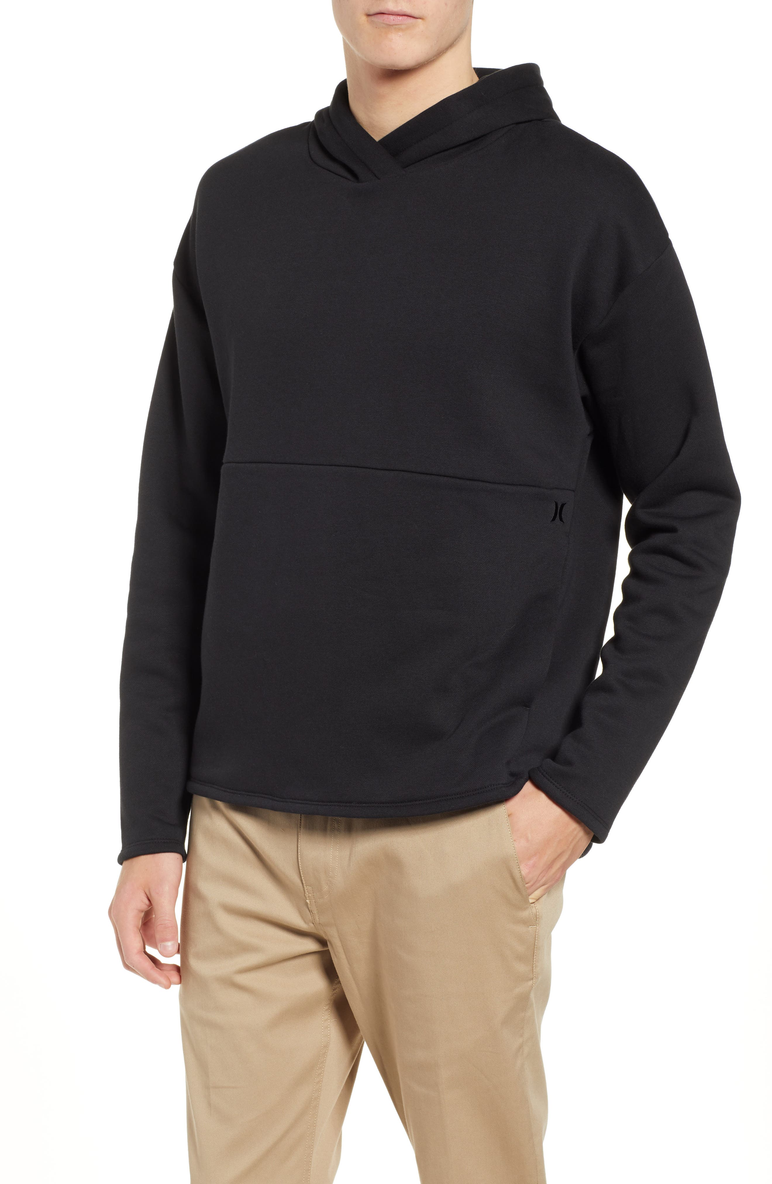 Hurley Surf Check Icon Pullover Hoodie, Black