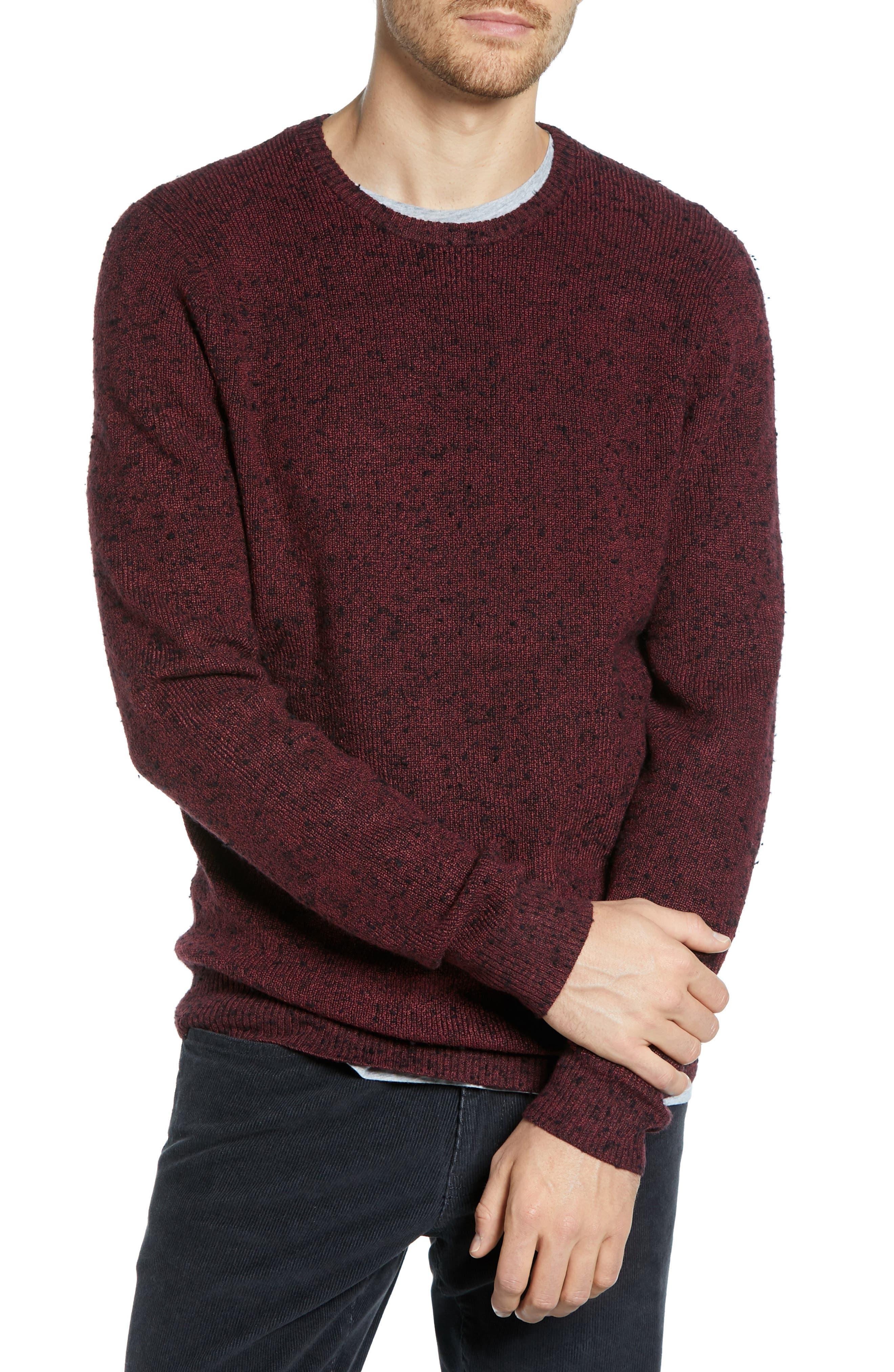 1901 Regular Fit Crewneck Sweater, Red