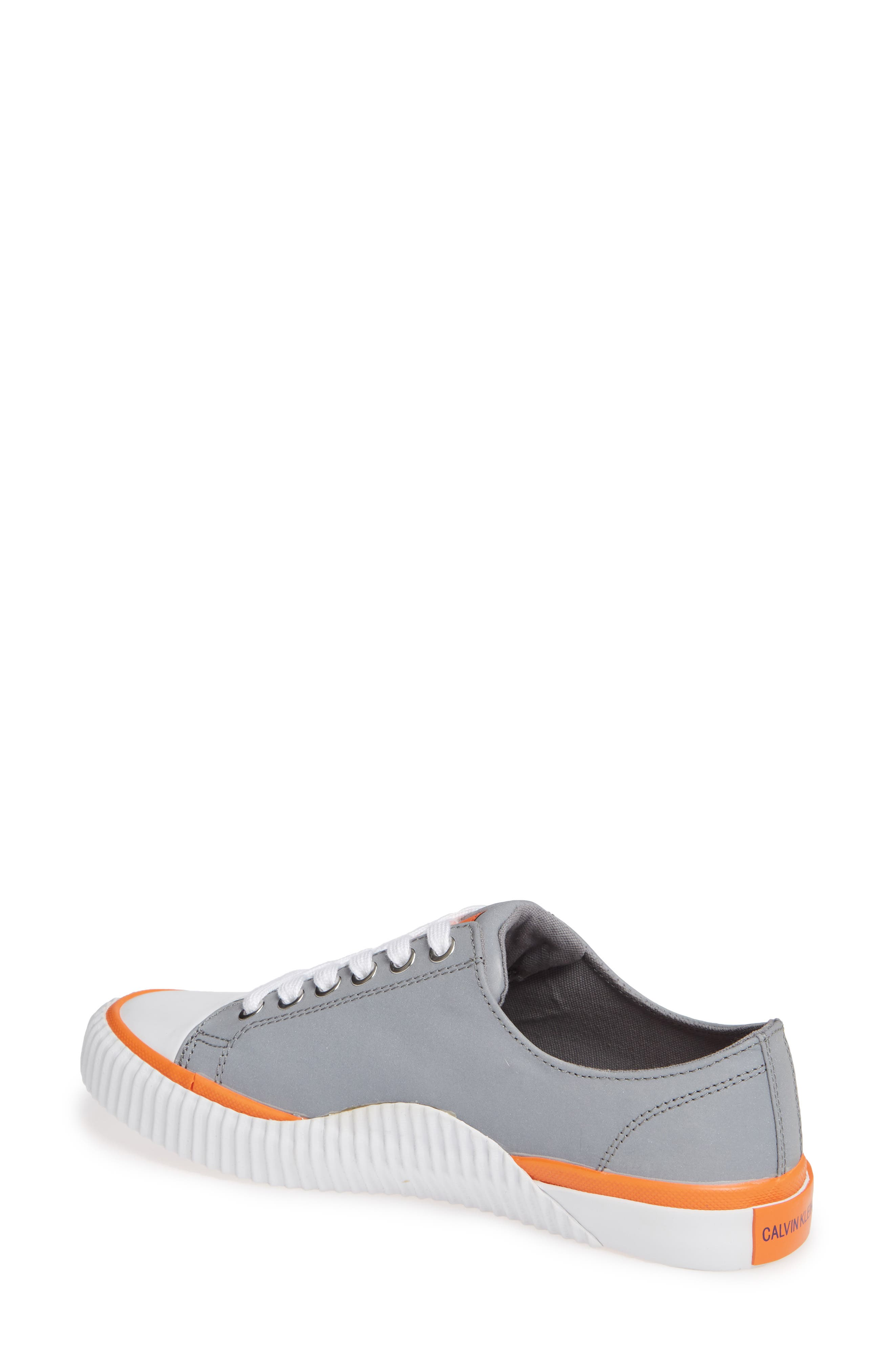 Ivory Lace-Up Sneaker,                             Alternate thumbnail 2, color,                             SILVER