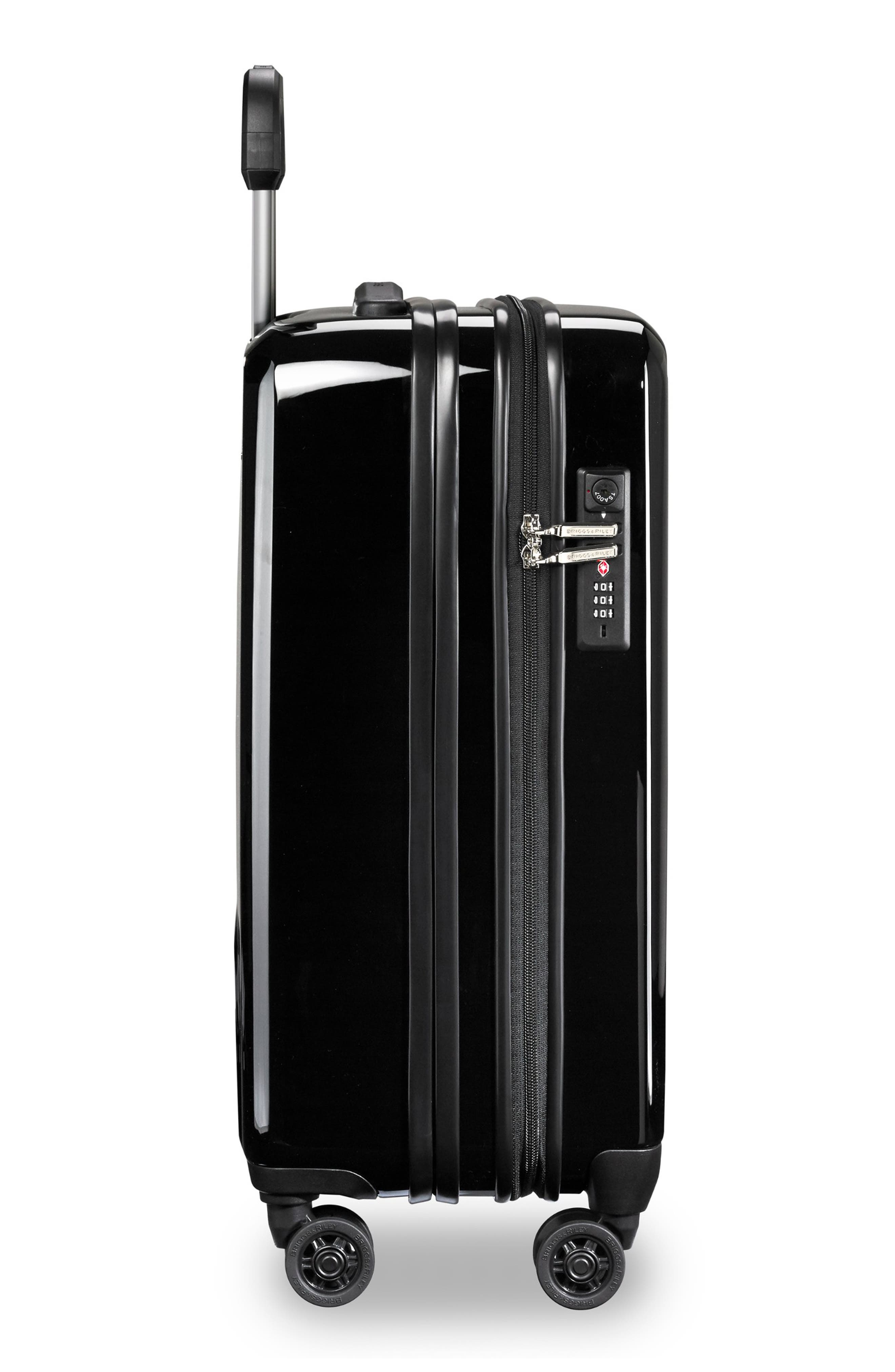 22-Inch Domestic Expandable Spinner Wheeled Carry-On,                             Alternate thumbnail 3, color,                             ONYX GLOSS