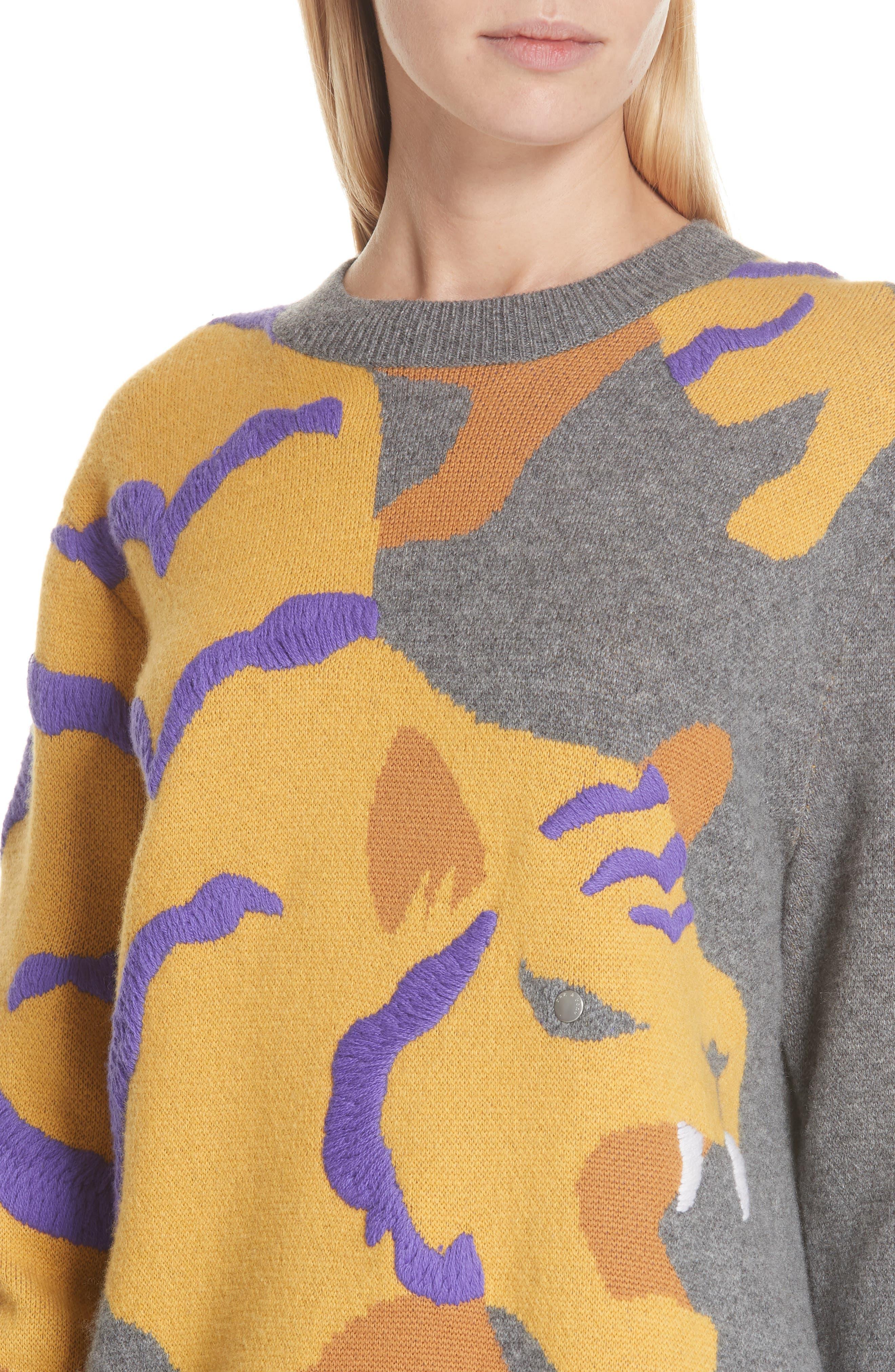 RAG & BONE,                             Tiger Cashmere Sweater,                             Alternate thumbnail 4, color,                             CHARCOAL