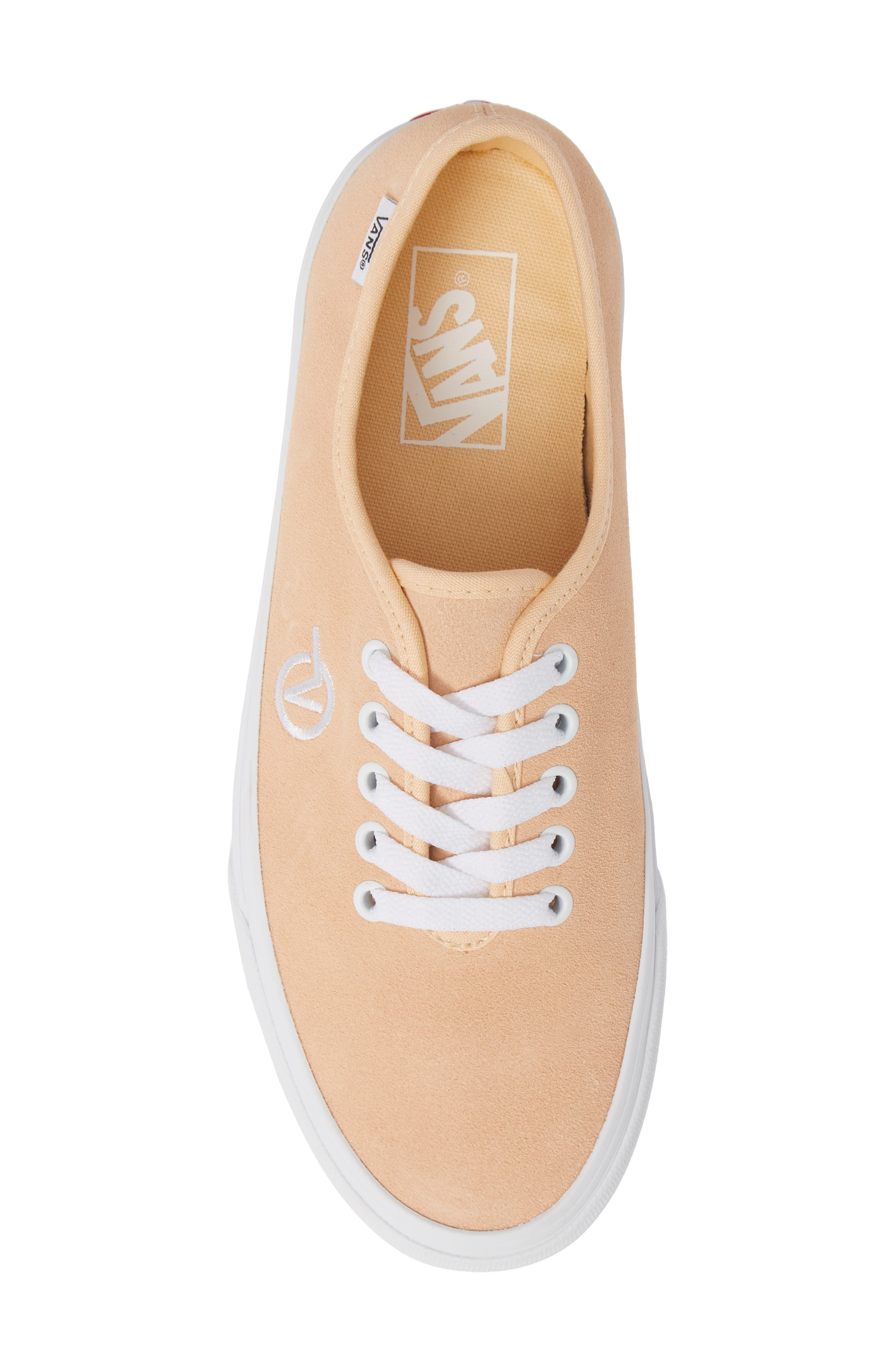Authentic One-Piece Sneaker,                             Alternate thumbnail 5, color,                             BLEACHED APRICOT/ SUEDE