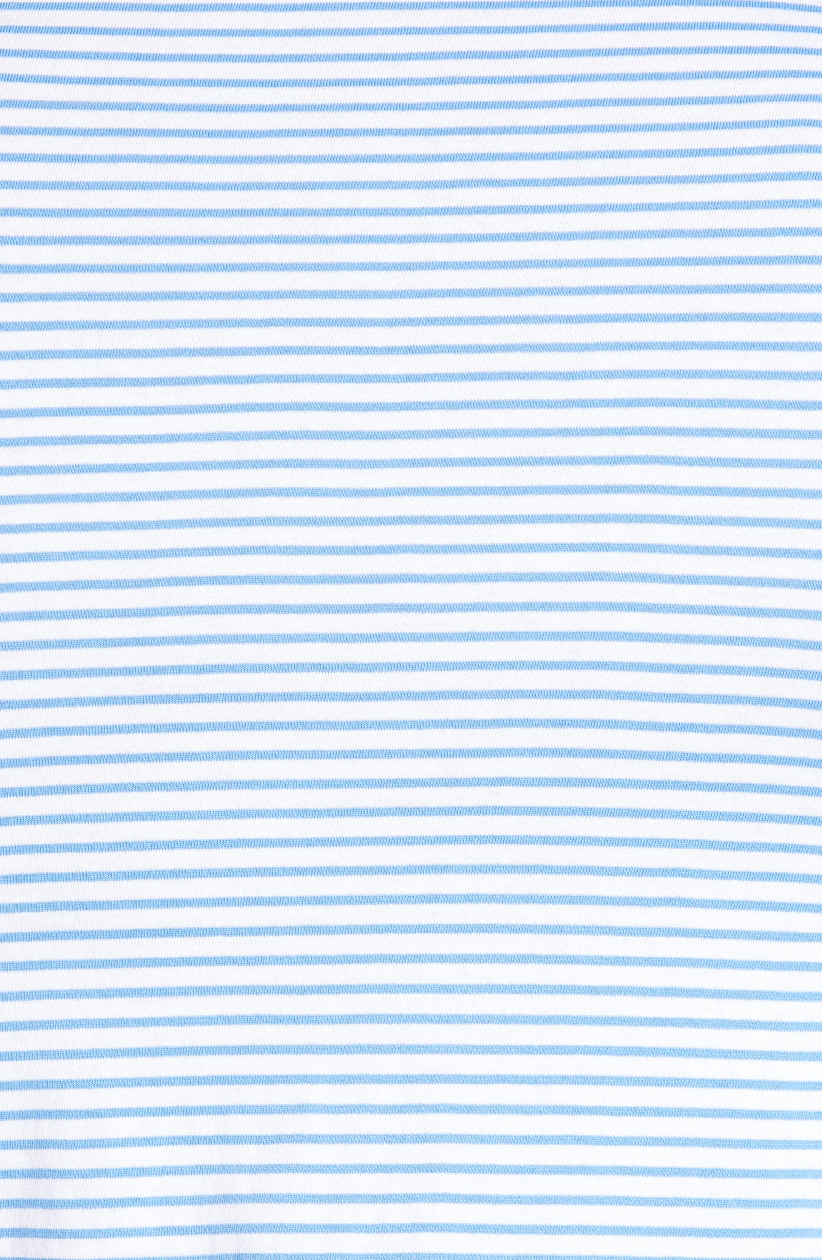 Macon Regular Fit Stripe Polo,                             Alternate thumbnail 5, color,                             WHITE