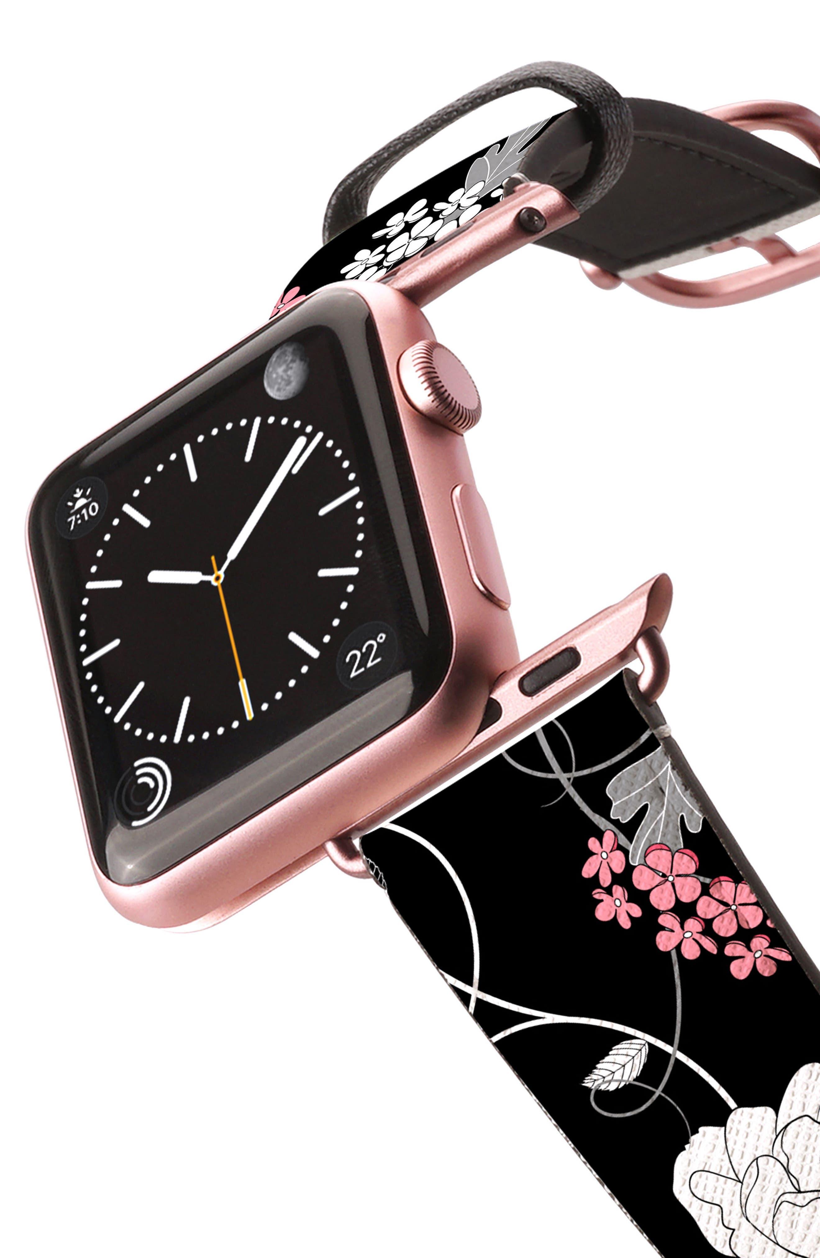 Saffiano Faux Leather Apple Watch Strap,                             Alternate thumbnail 24, color,