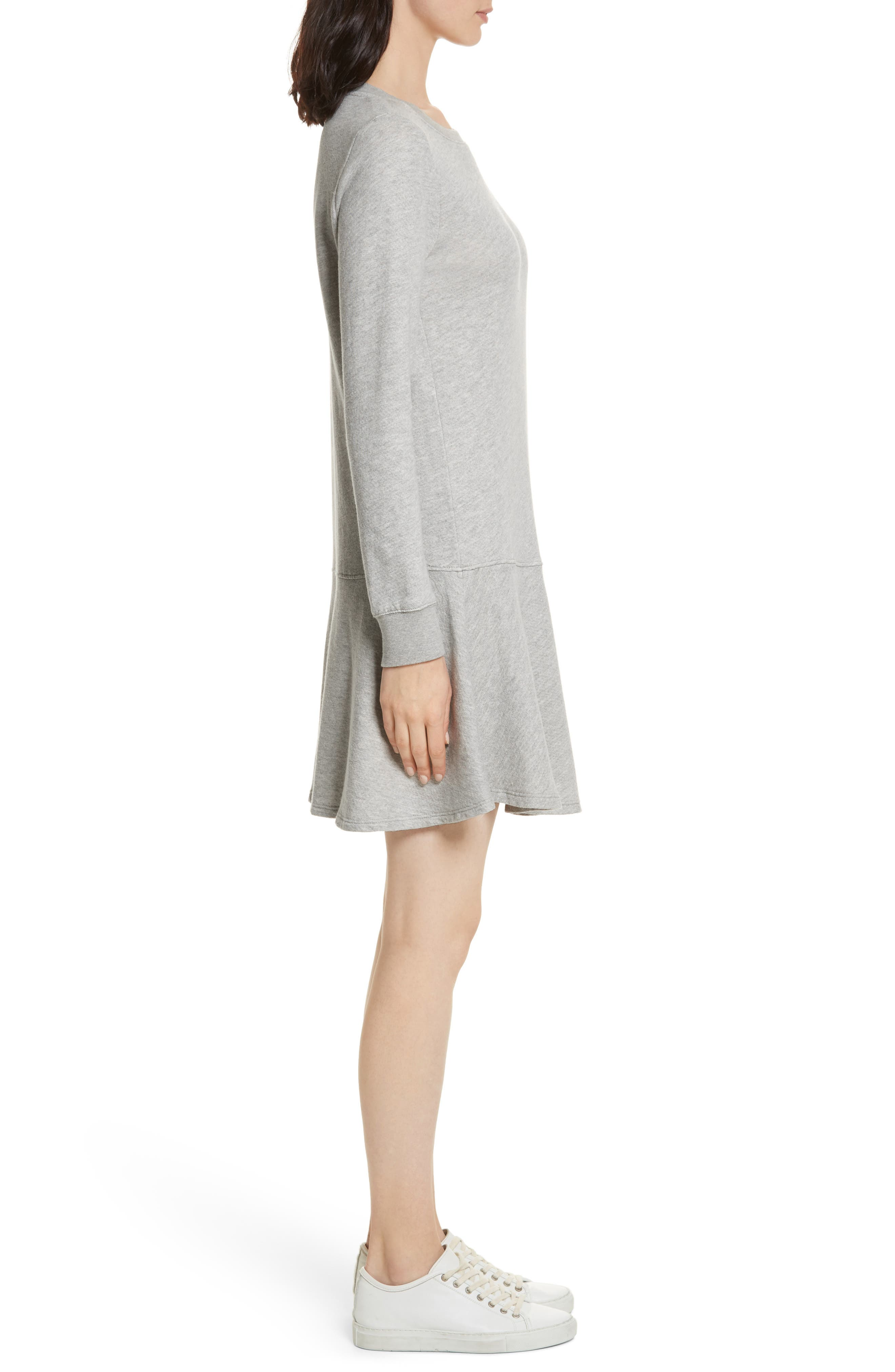 Runna French Terry A-Line Dress,                             Alternate thumbnail 3, color,                             033