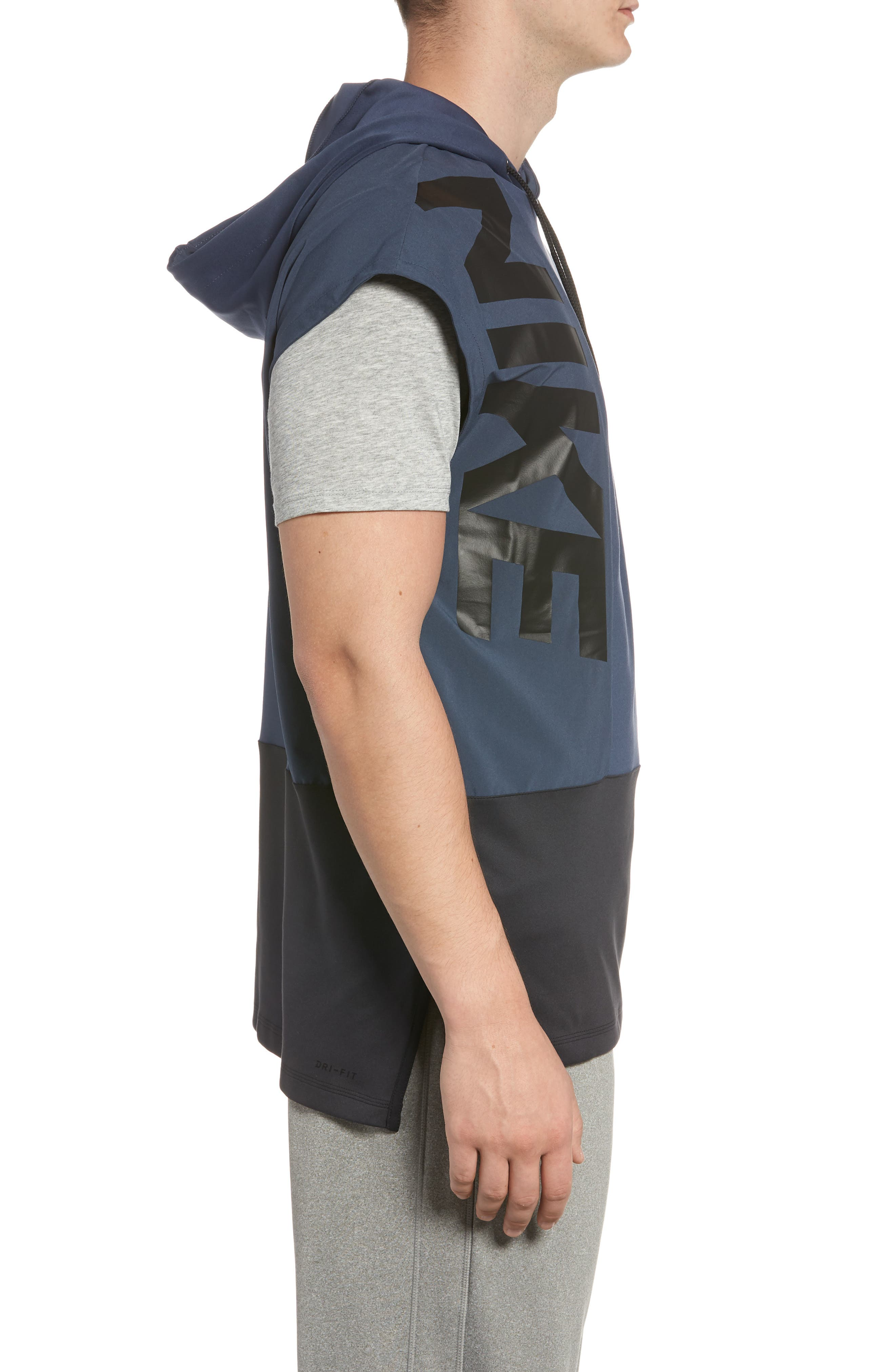 Dry Hooded Tank,                             Alternate thumbnail 3, color,                             THUNDER BLUE/ BLACK/ BLACK