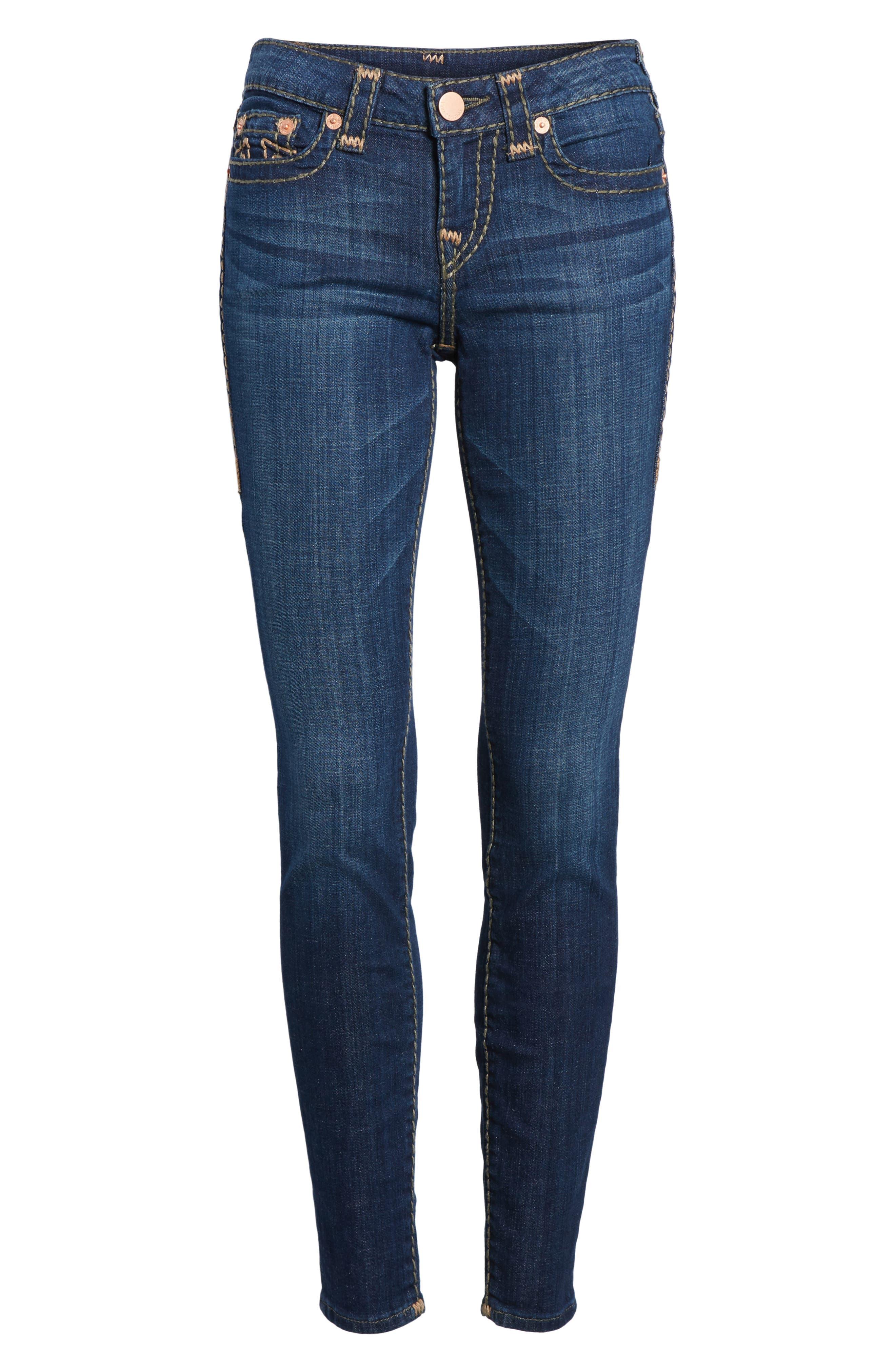 Halle Skinny Jeans,                             Alternate thumbnail 7, color,                             402