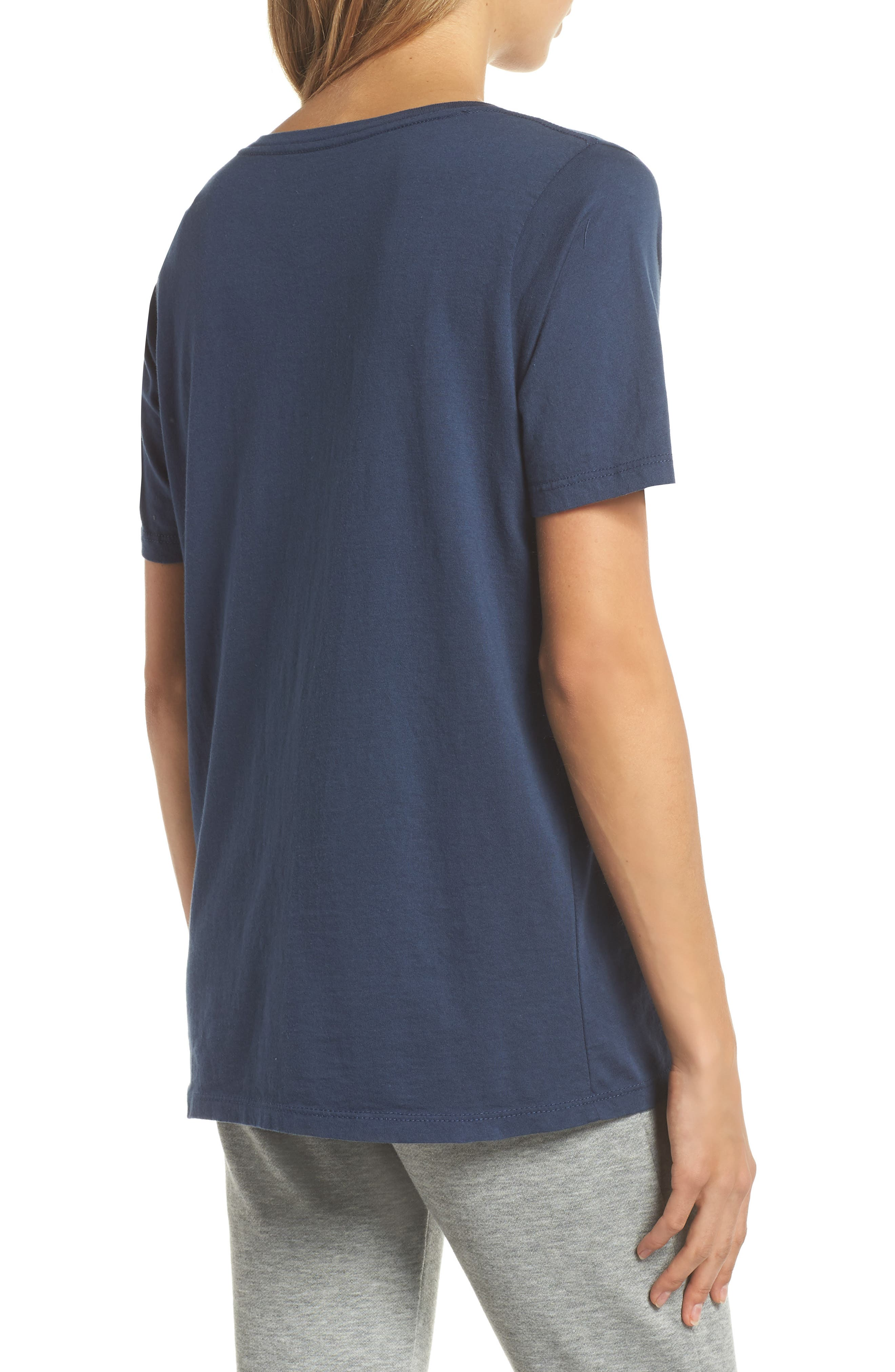 The Scoop Cotton Tee,                             Alternate thumbnail 2, color,                             NAVY