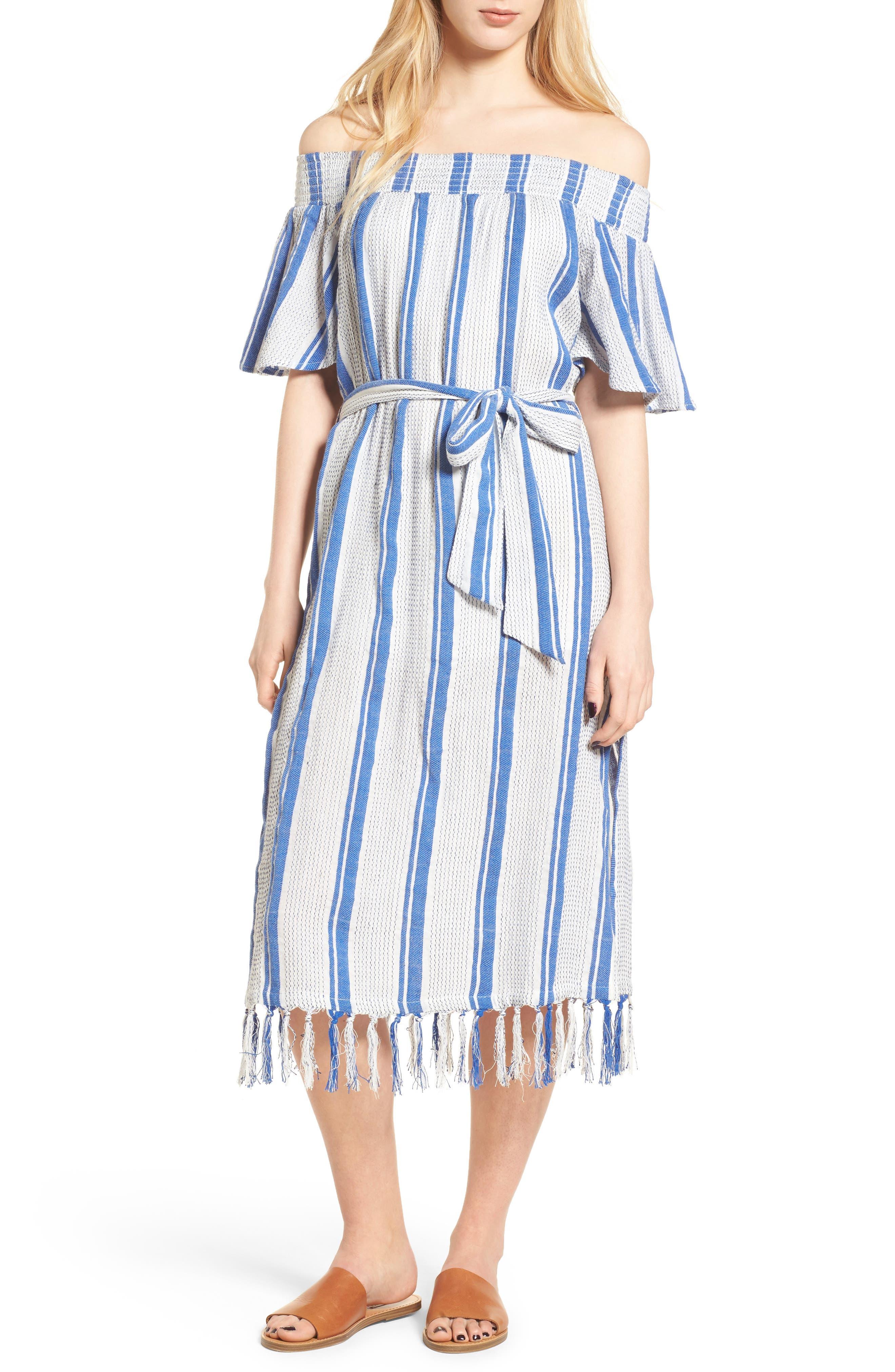 Bora Bora Tie Waist Dress,                         Main,                         color, 100