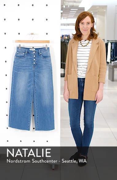 Button Front Wide Leg Crop Jeans, sales video thumbnail