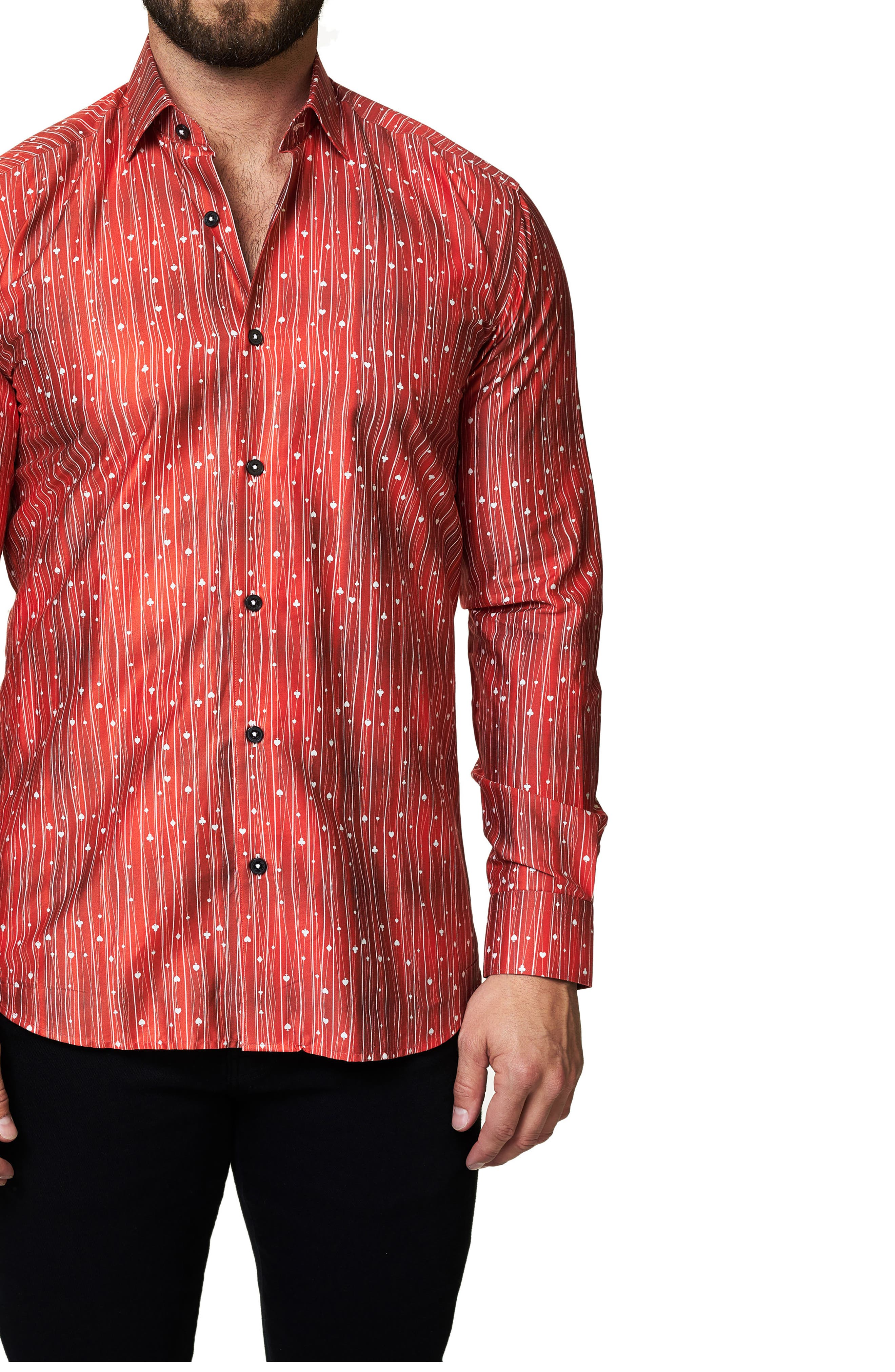 Trim Fit Print Sport Shirt,                         Main,                         color, 610