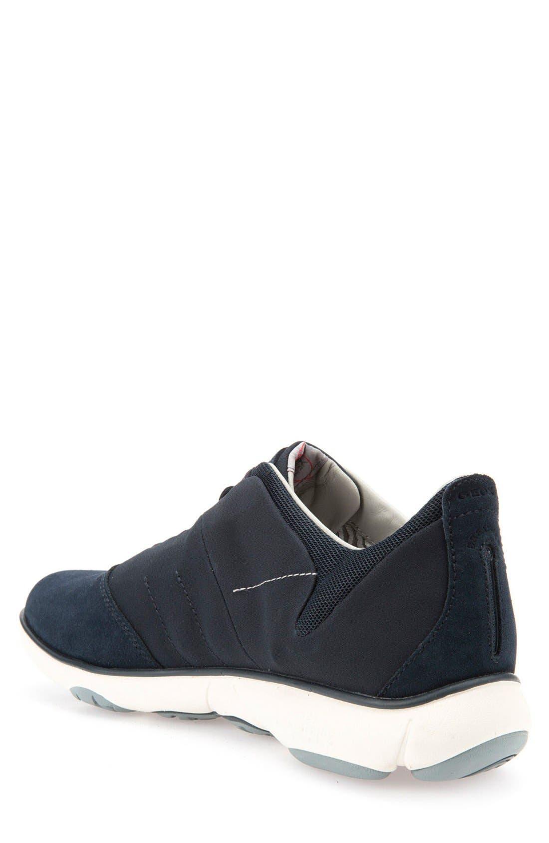 Nebula10 Slip-On Sneaker,                             Alternate thumbnail 2, color,                             NAVY SUEDE