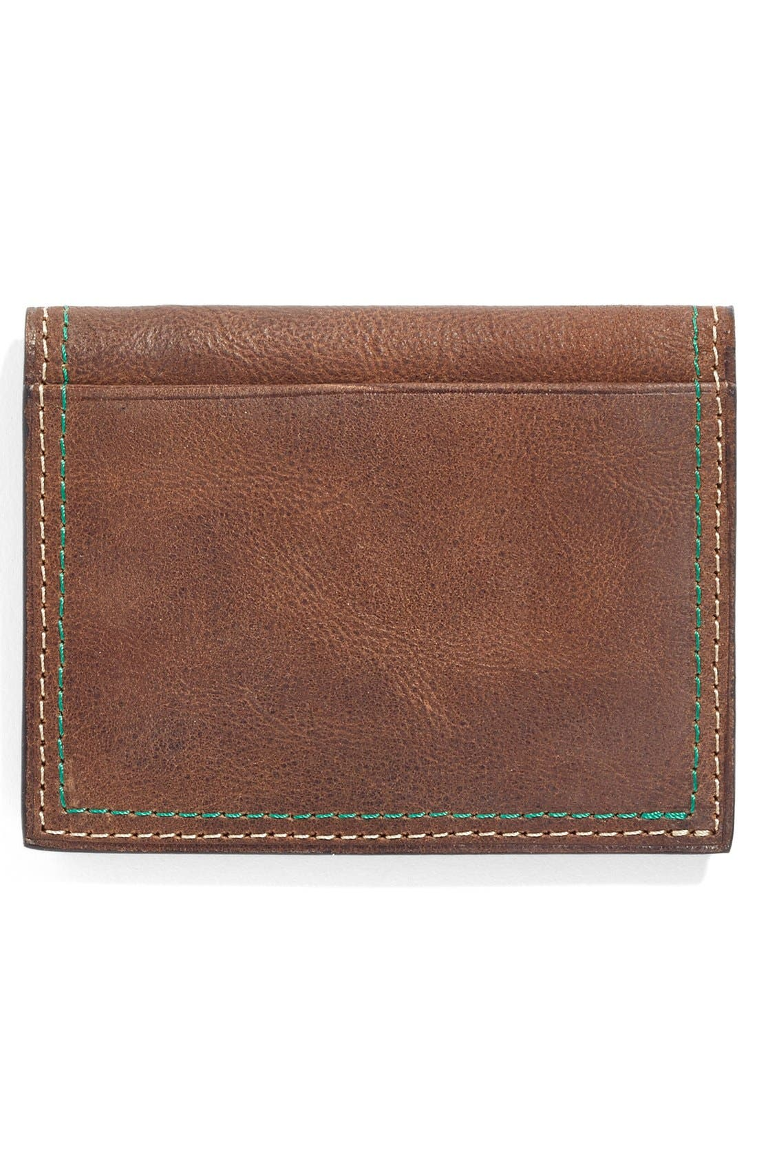 Water Buffalo Leather Card Case,                             Alternate thumbnail 3, color,