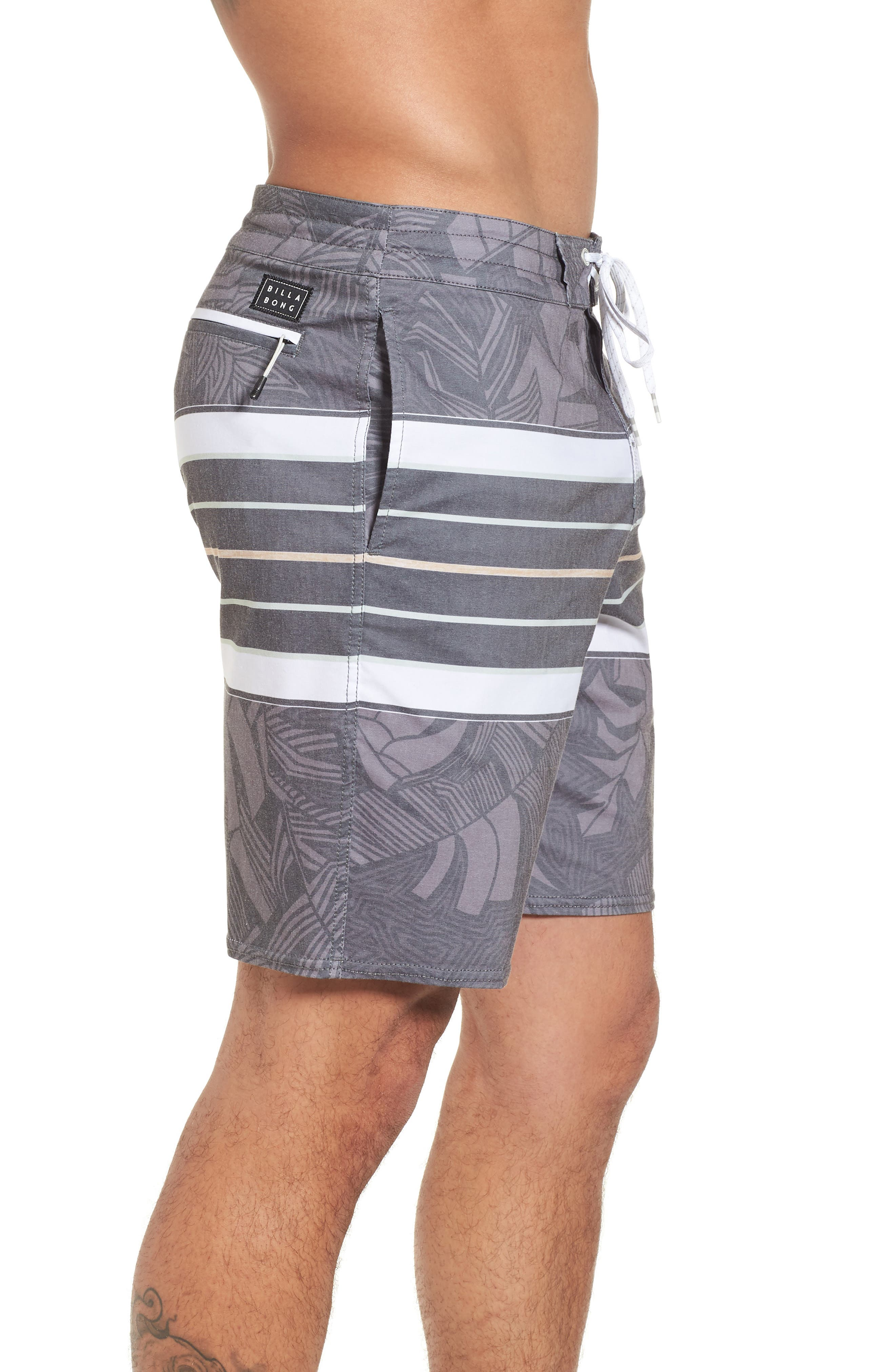 Stringer Lo Tides Board Shorts,                             Alternate thumbnail 3, color,                             001