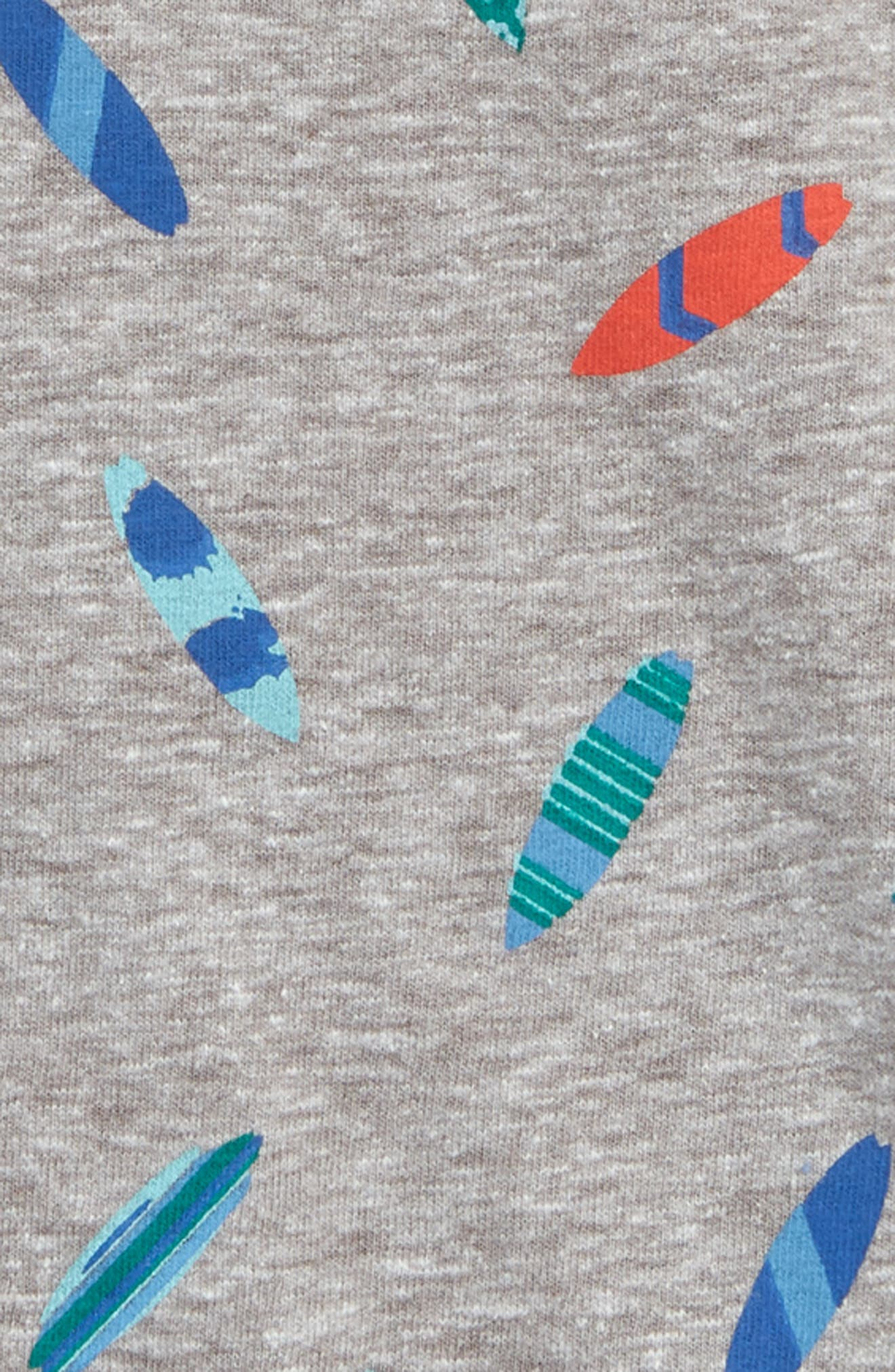 Print T-Shirt,                             Alternate thumbnail 2, color,                             GREY ASH HEATHER SURFBOARDS