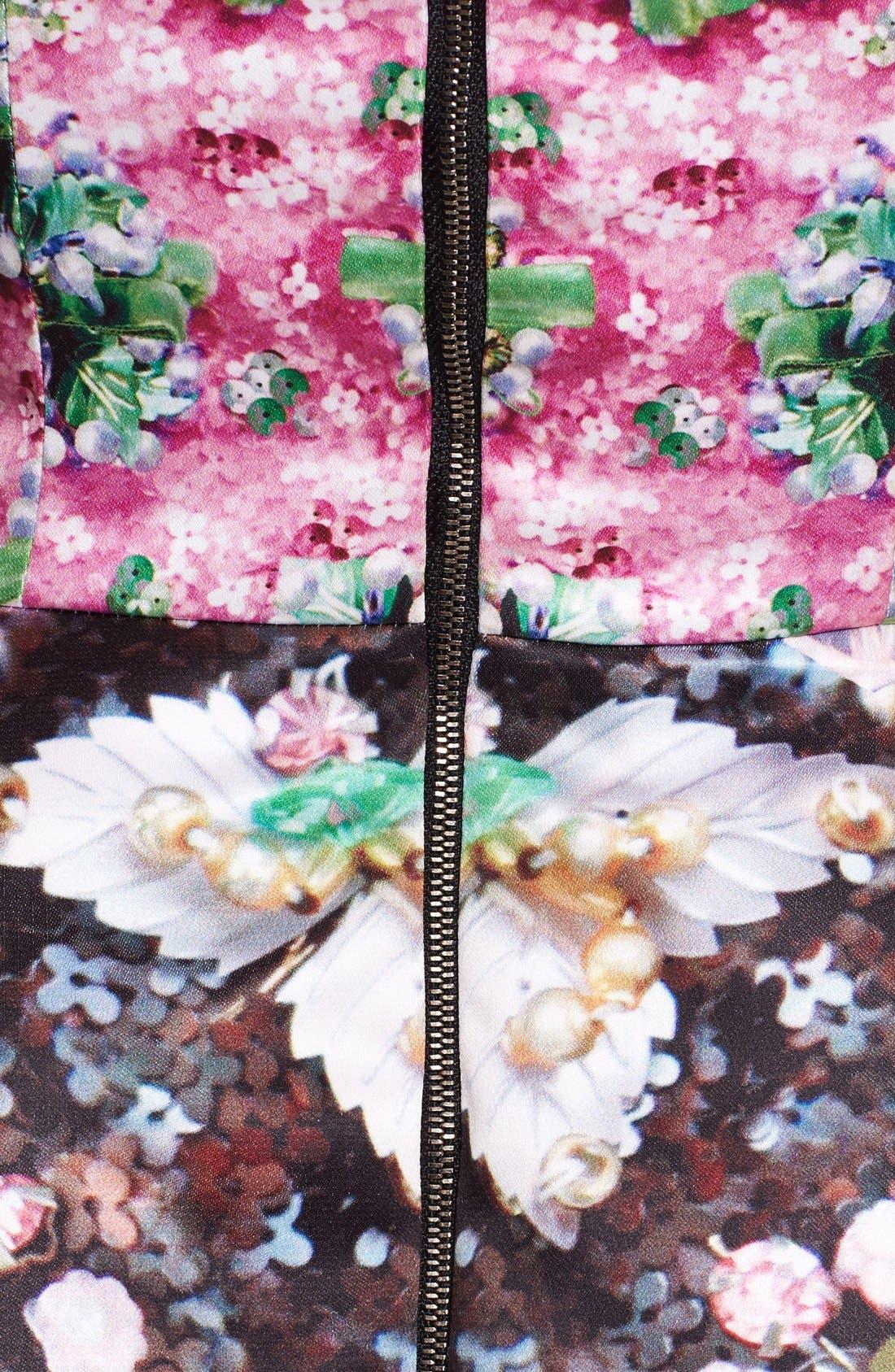 Print Fit & Flare Dress,                             Alternate thumbnail 2, color,                             650