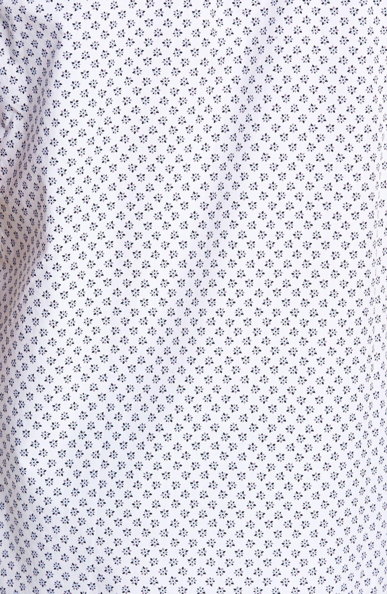 Santo Regular Fit Print Sport Shirt,                             Alternate thumbnail 5, color,                             001