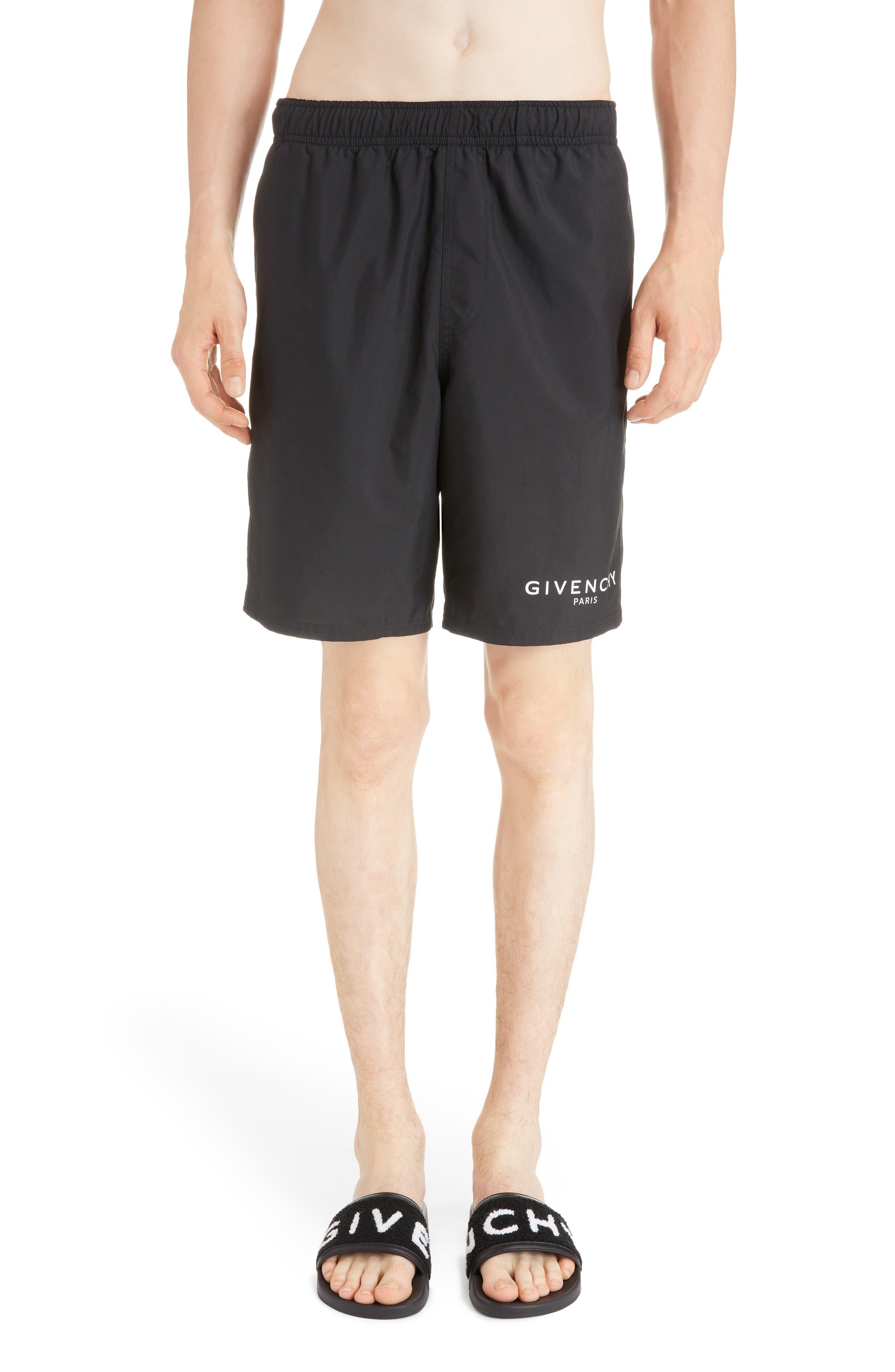Men'S Logo Swim Trunks in Black