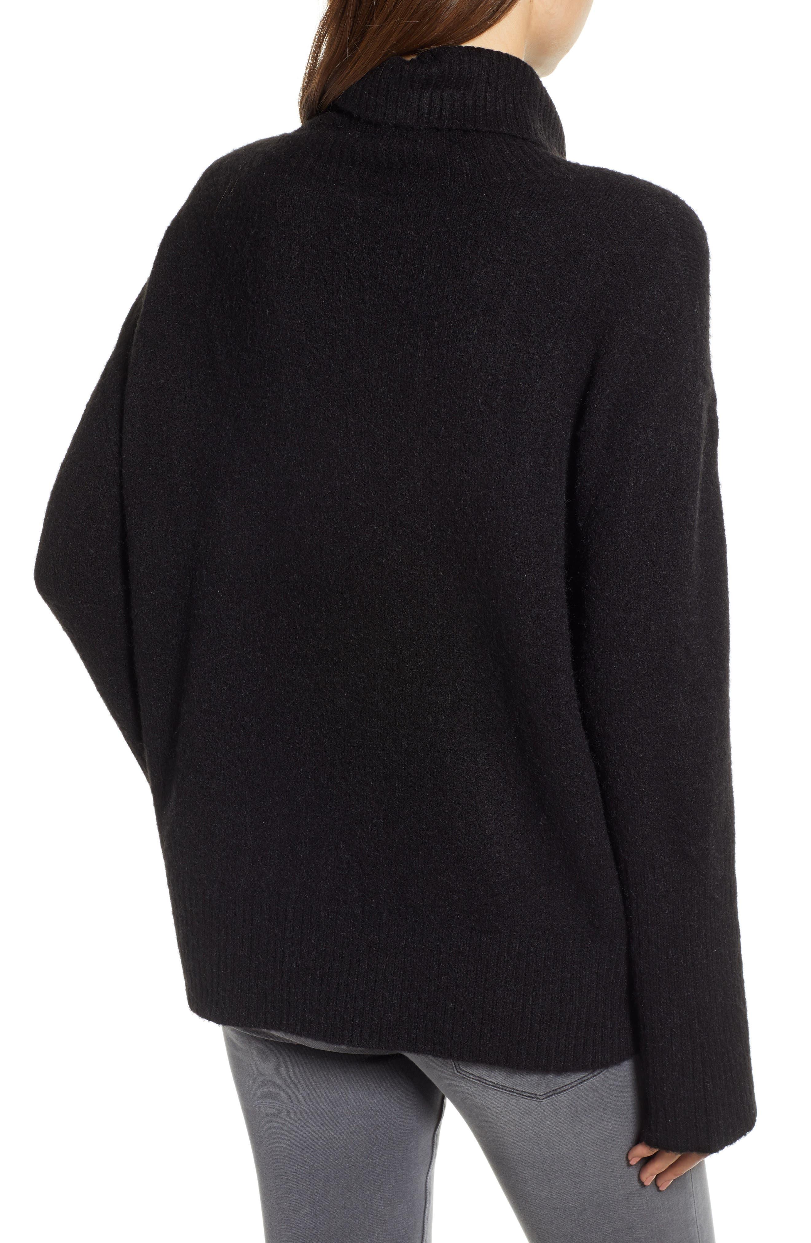 HINGE,                             Bell Sleeve Sweater,                             Alternate thumbnail 2, color,                             BLACK