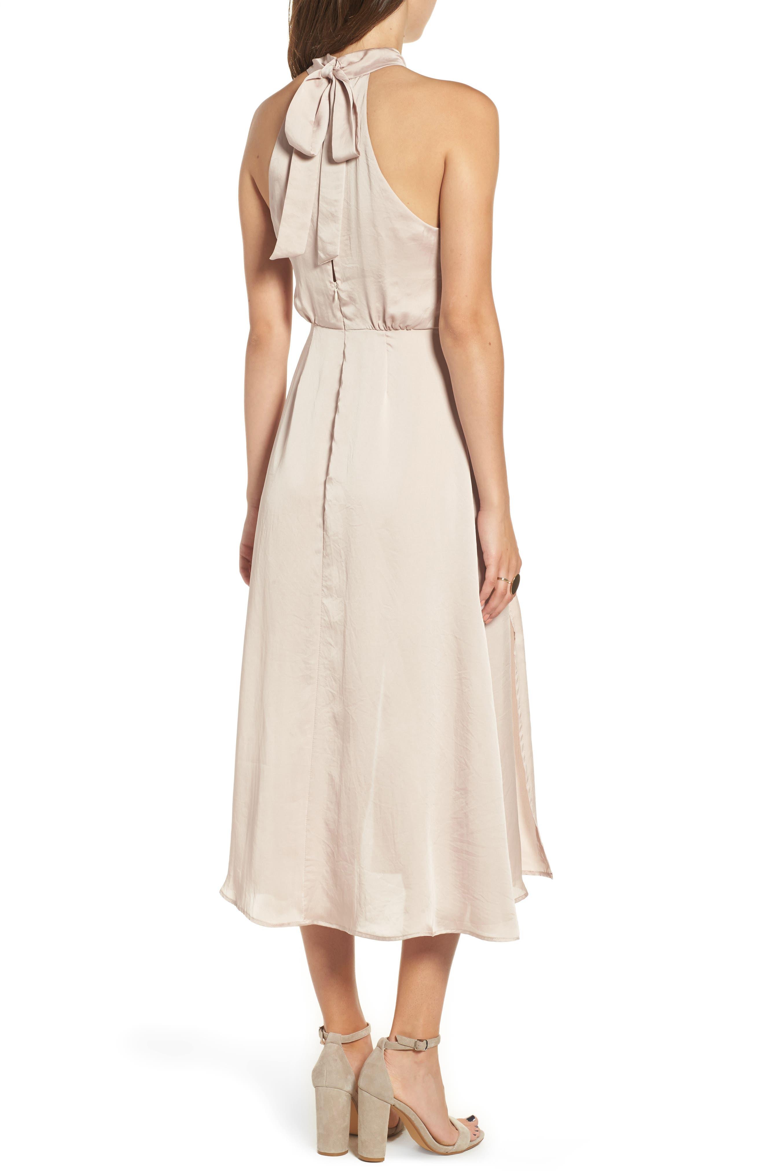 Satin Midi Dress,                             Alternate thumbnail 2, color,                             663