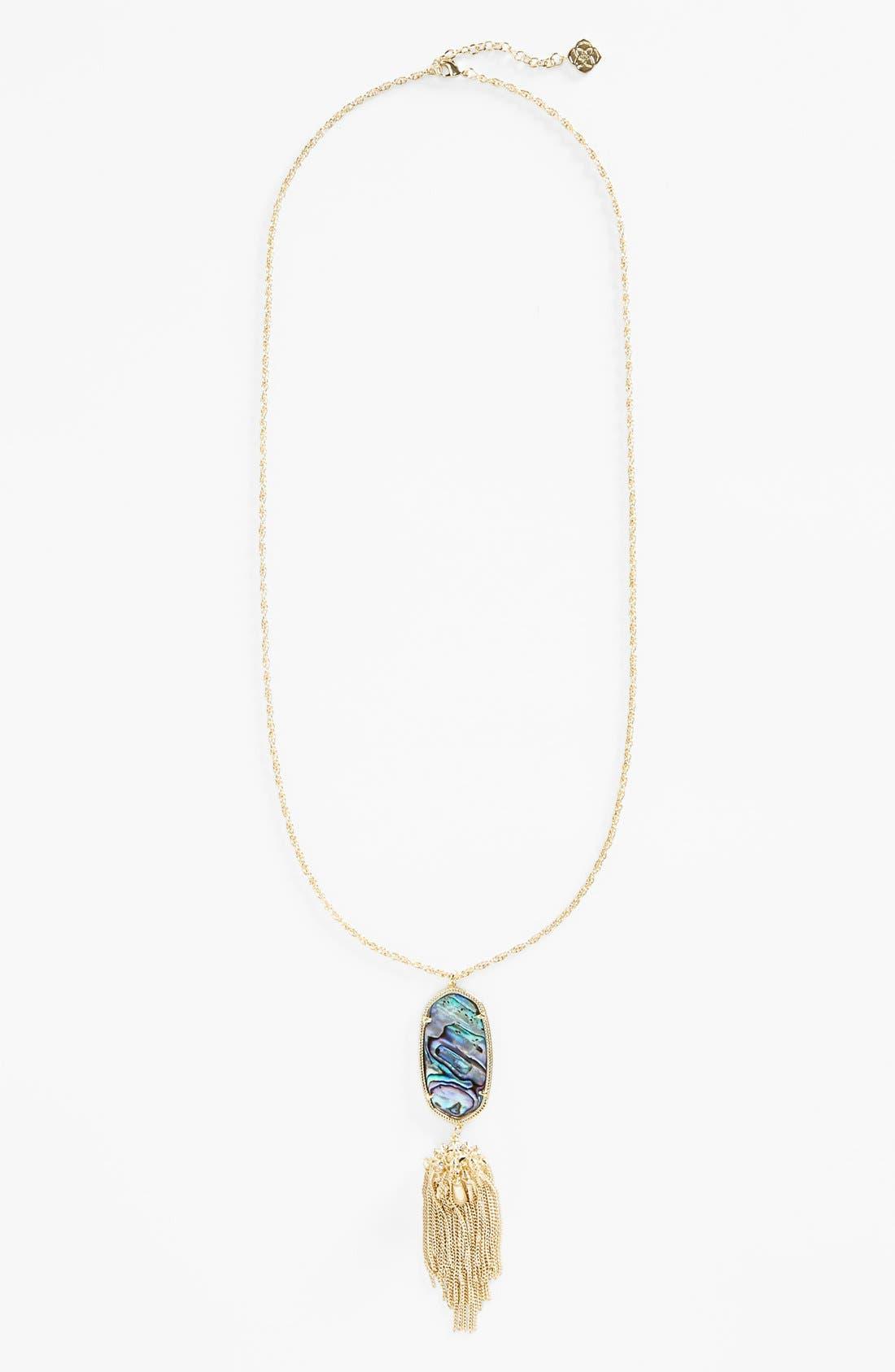 Rayne Stone Tassel Pendant Necklace,                             Alternate thumbnail 90, color,