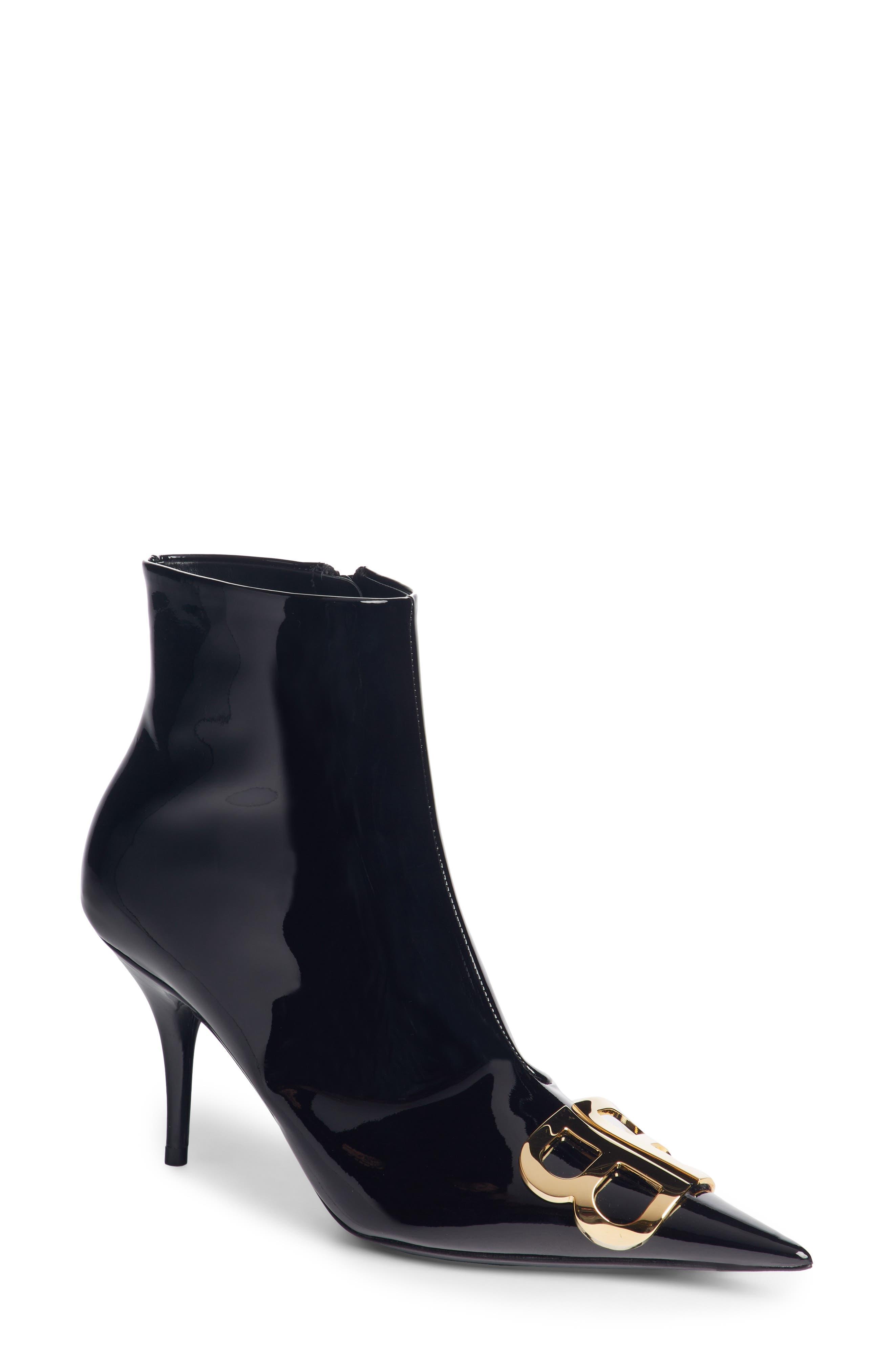 Balenciaga Bb Pointy Toe Bootie - Black