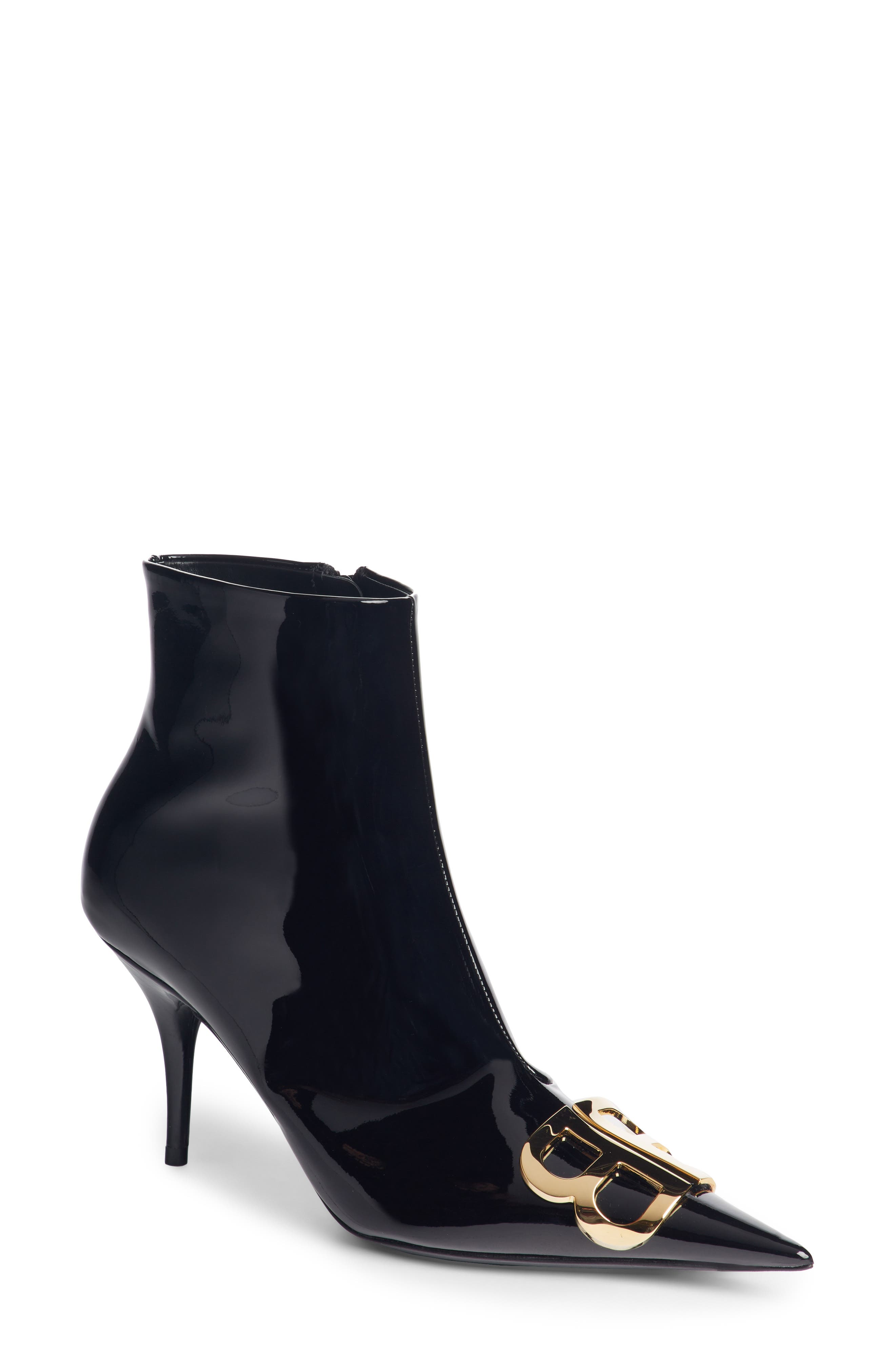 BB Pointy Toe Bootie,                             Main thumbnail 1, color,                             BLACK