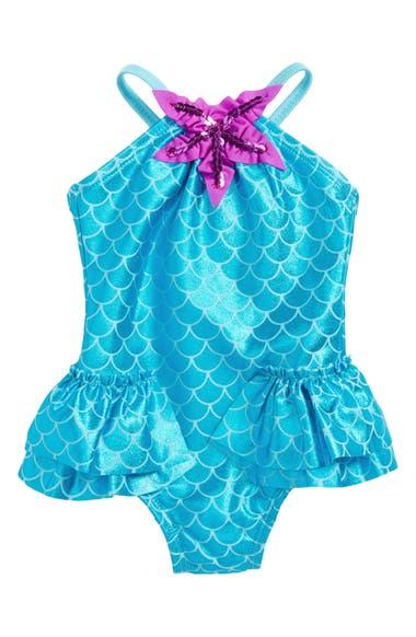 8f47f183c3ee1 Love U Lots Mermaid One-Piece Swimsuit (Baby Girls) | Nordstrom