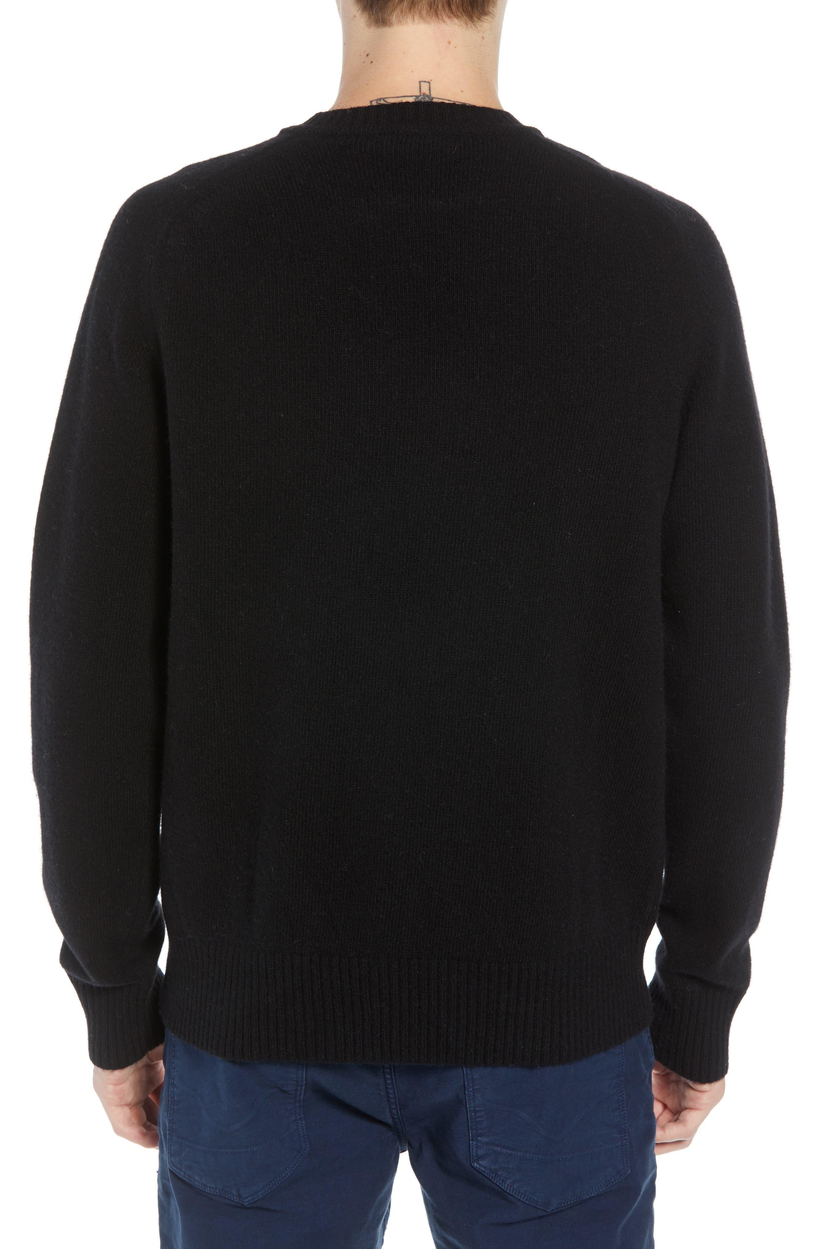Bonjour Wool Blend Sweater,                             Alternate thumbnail 2, color,                             BLACK WHITECAP GREY