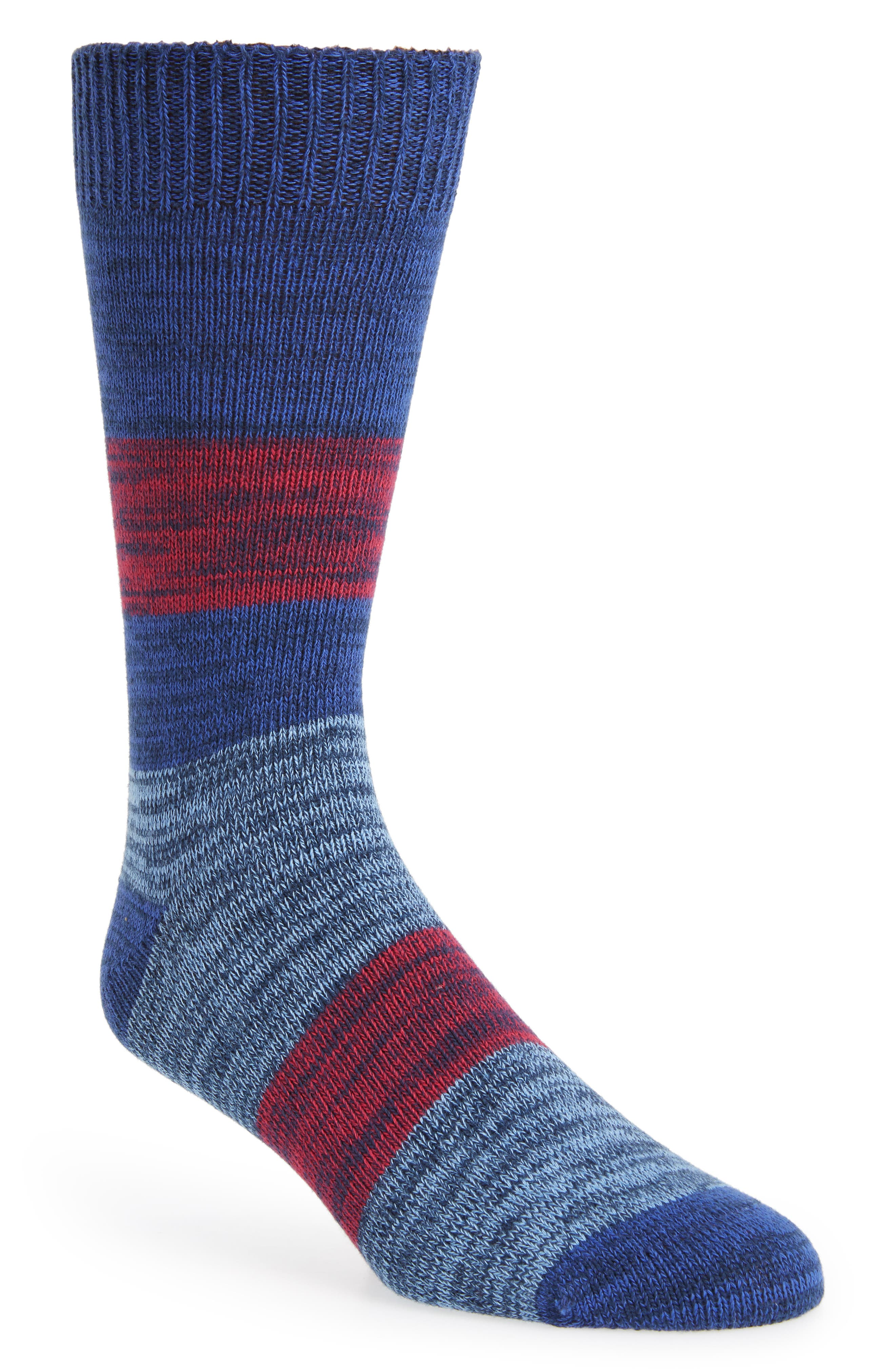Seere Stripe Socks, Main, color, BRIGHT BLUE
