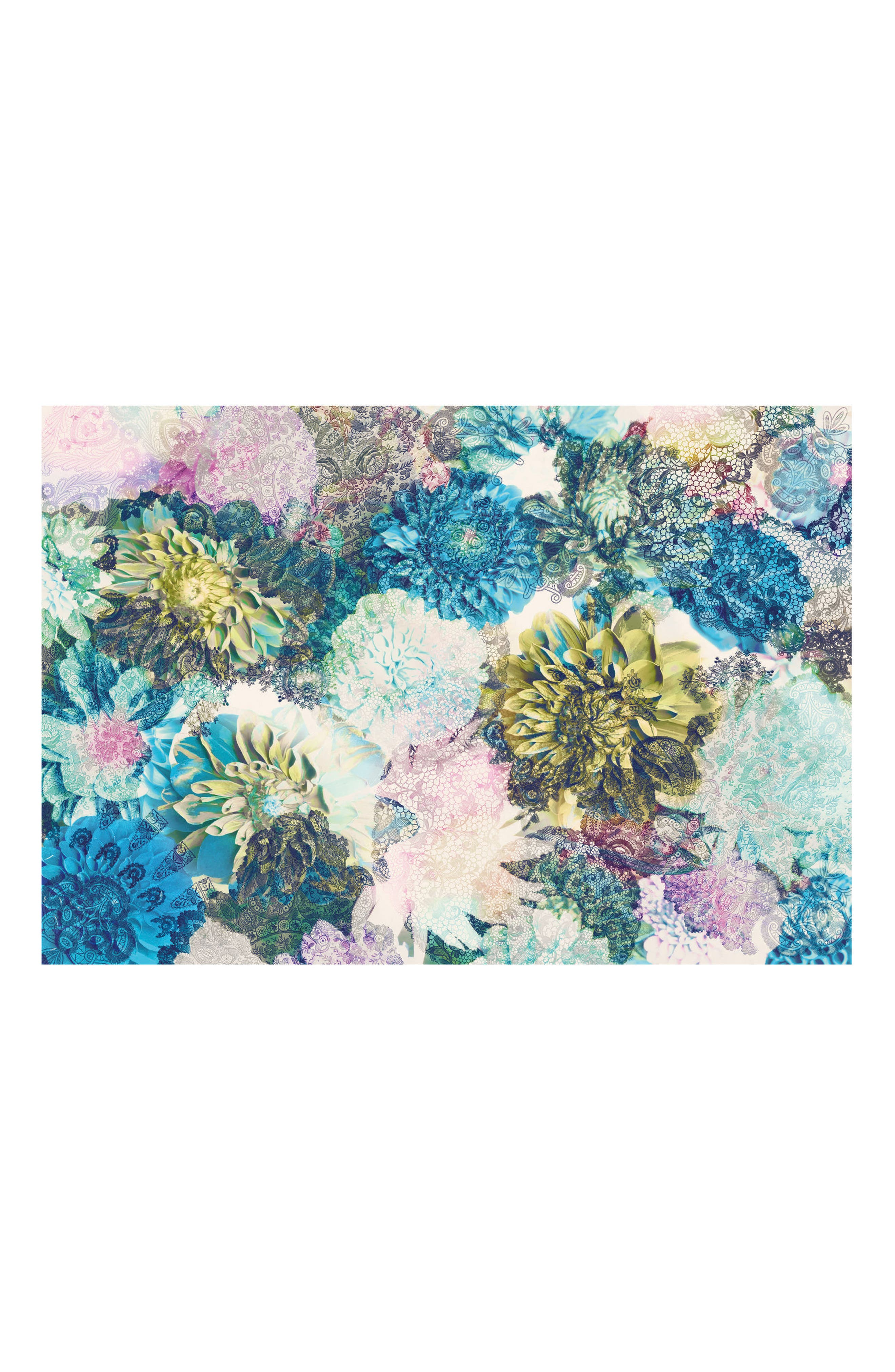 Frisky Flowers Wall Mural,                             Main thumbnail 1, color,                             400