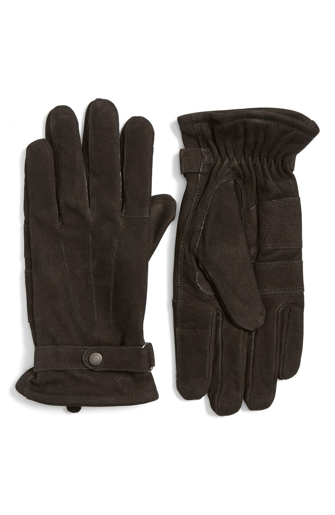 Leather Gloves,                             Main thumbnail 1, color,                             001
