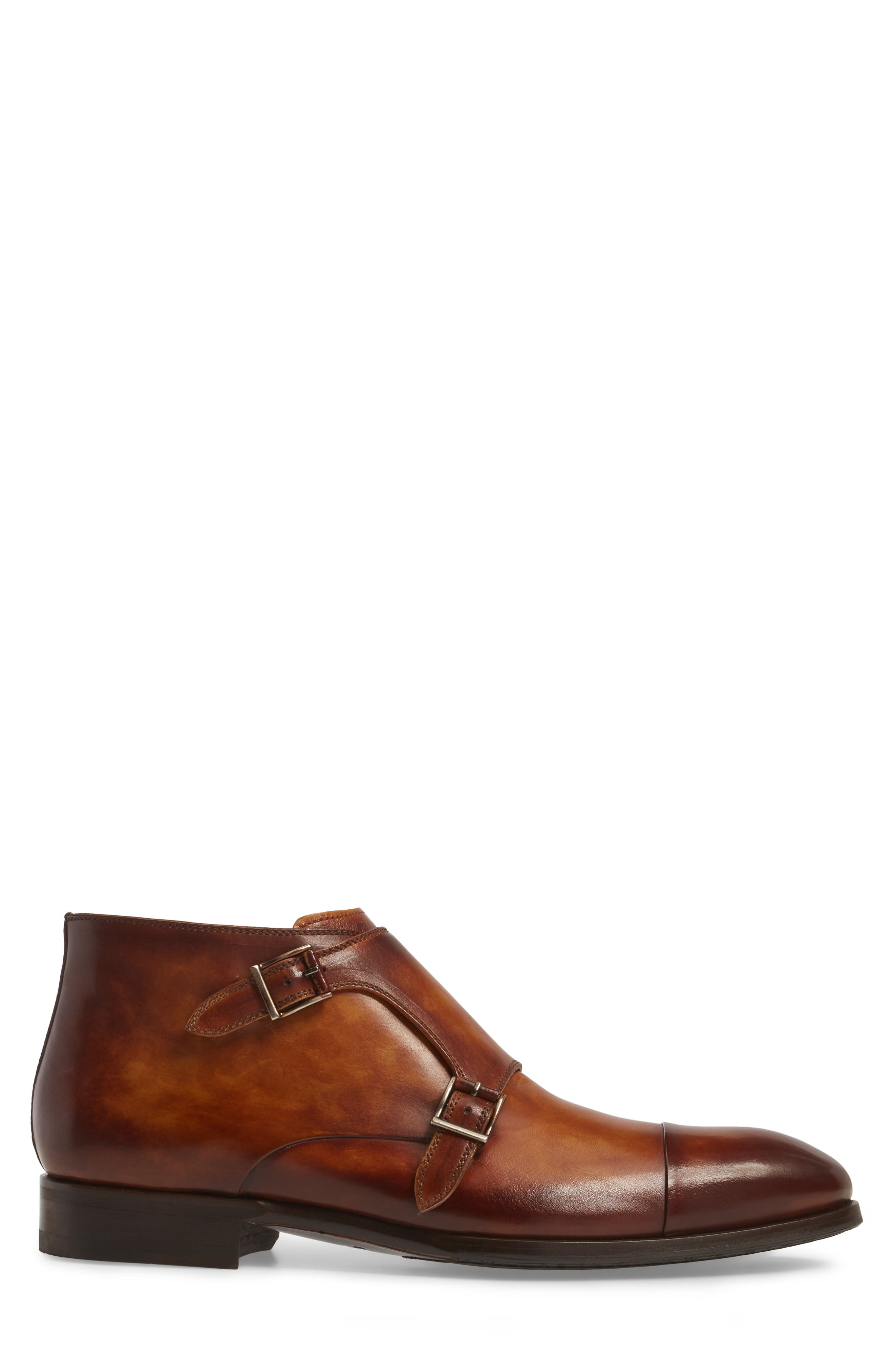 Lavar Double Monk Strap Boot,                             Alternate thumbnail 3, color,                             210