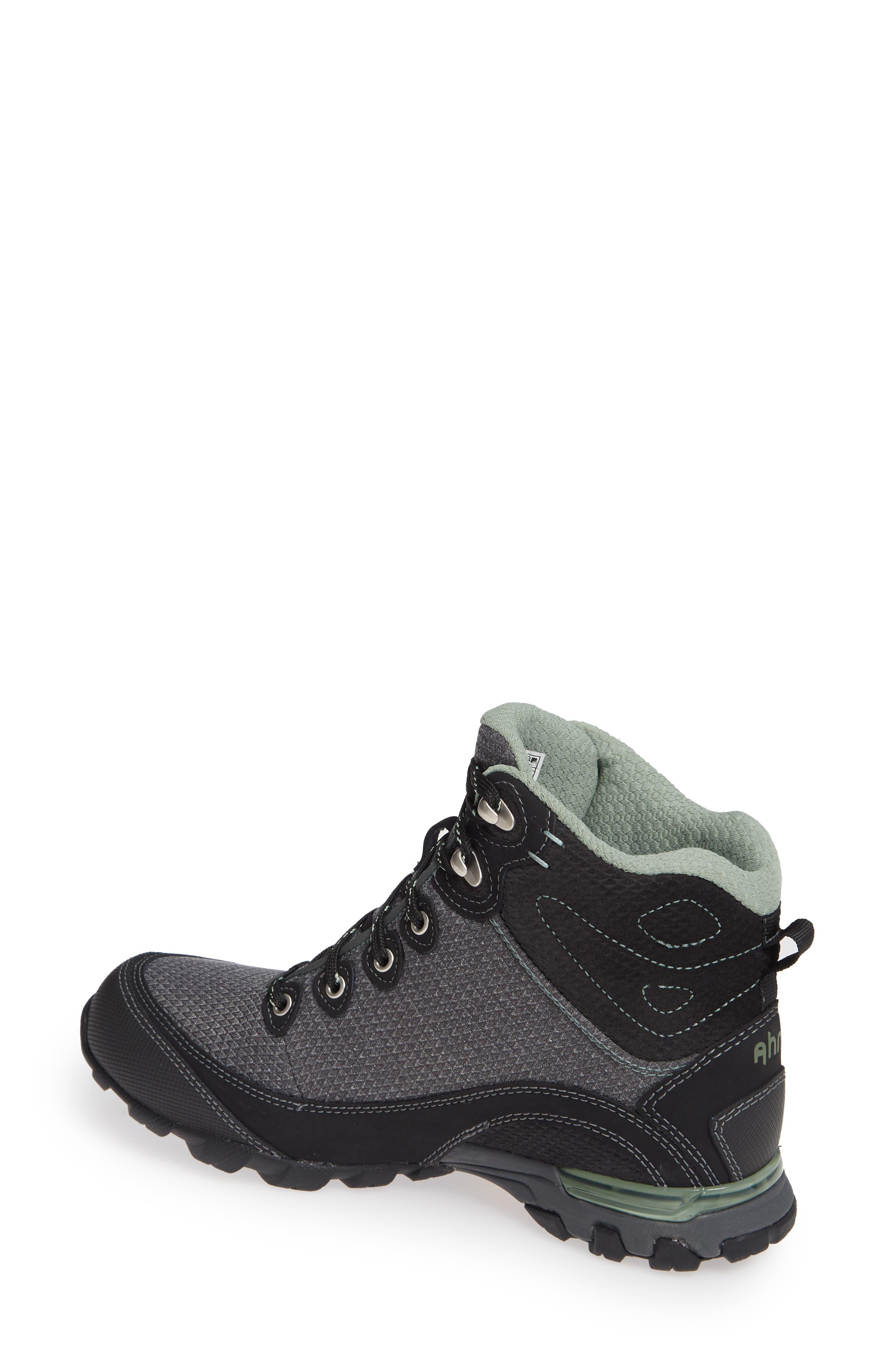 Ahnu by Teva Sugarpine II Waterproof Hiking Boot,                             Alternate thumbnail 2, color,                             BLACK/ GREEN BAY FABRIC