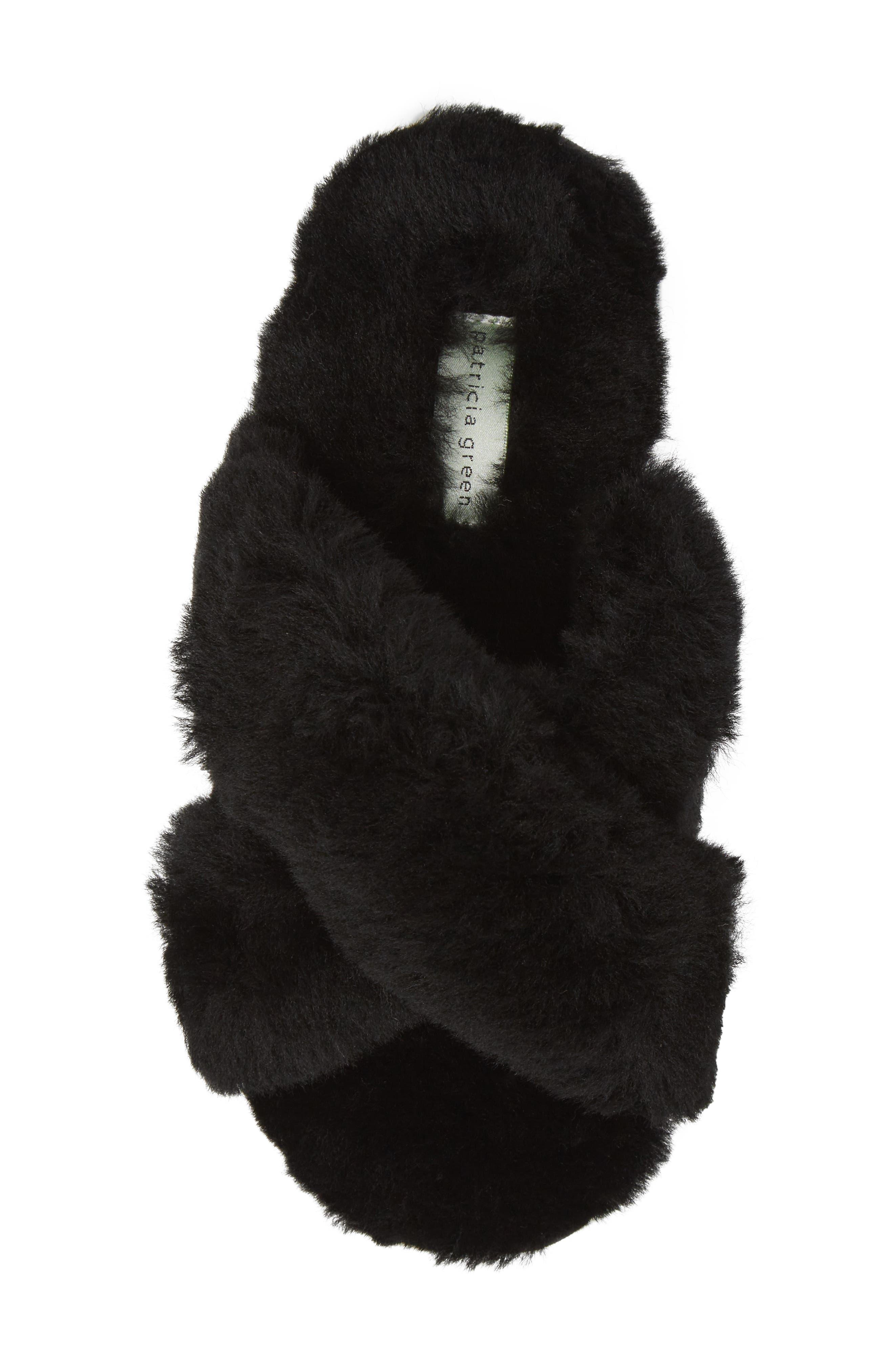 Mt. Hood Genuine Shearling Slipper,                             Alternate thumbnail 5, color,                             BLACK