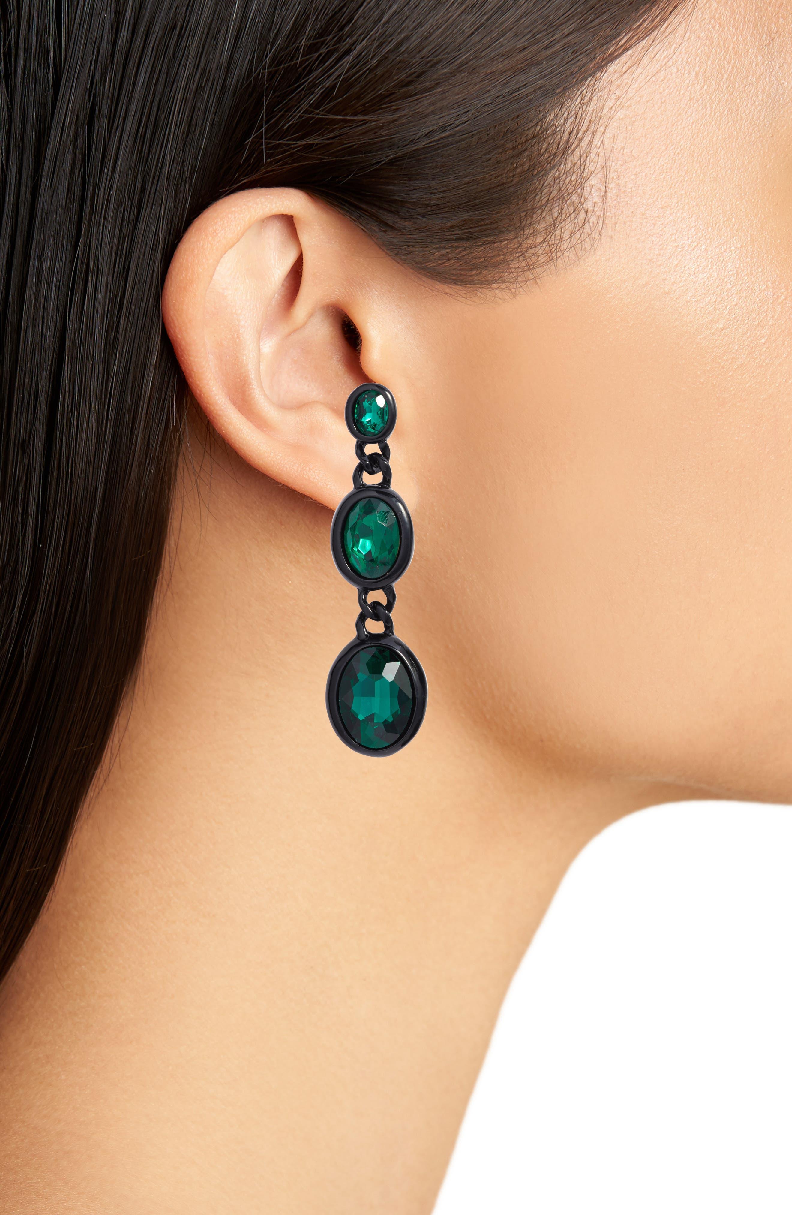 Dana Crystal Drop Earrings,                             Alternate thumbnail 3, color,                             300