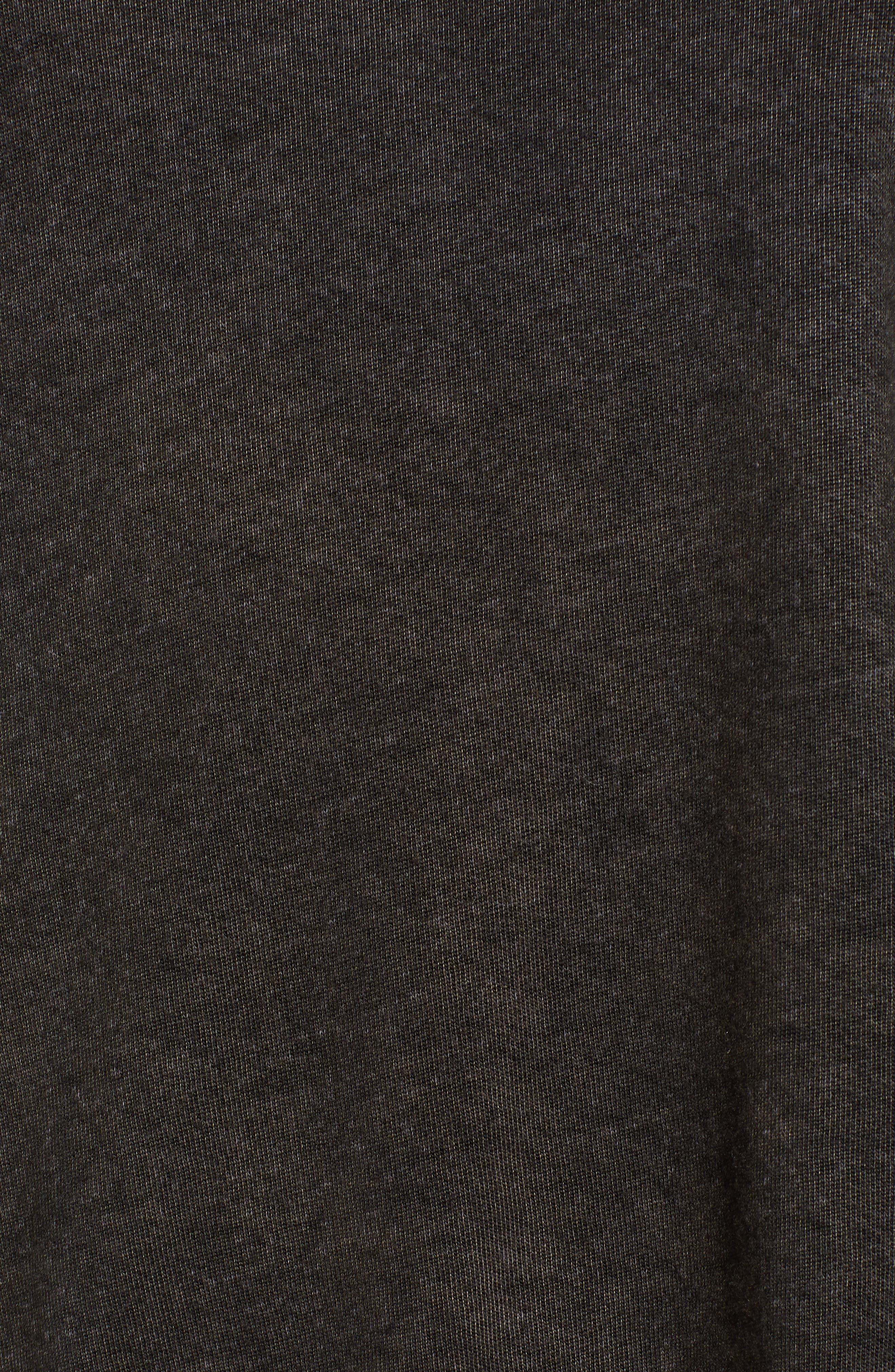 Peace Terry Sweatshirt,                             Alternate thumbnail 5, color,                             VINTAGE BLACK