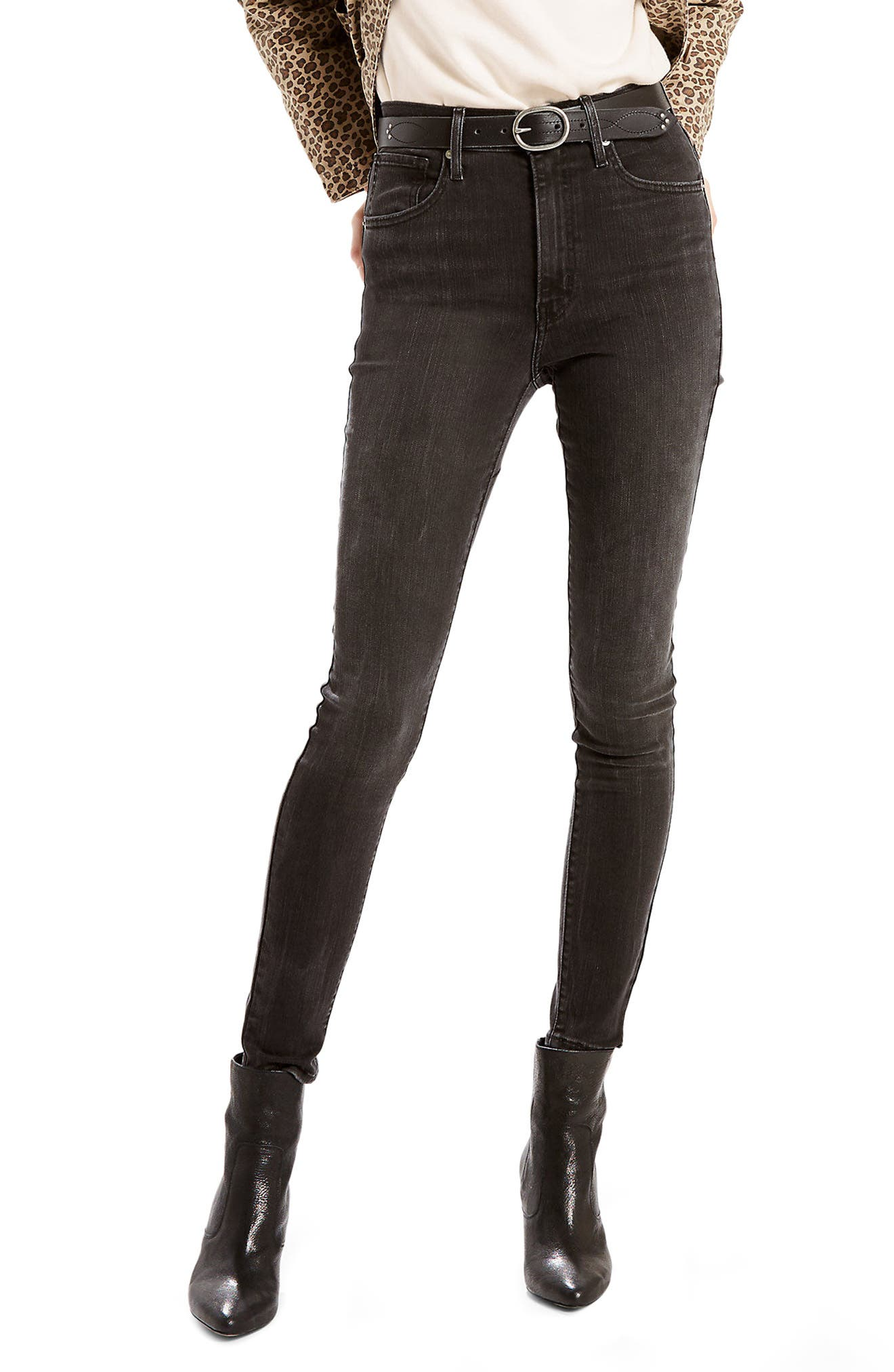 Mile High High Waist Super Skinny Jeans,                         Main,                         color, 020