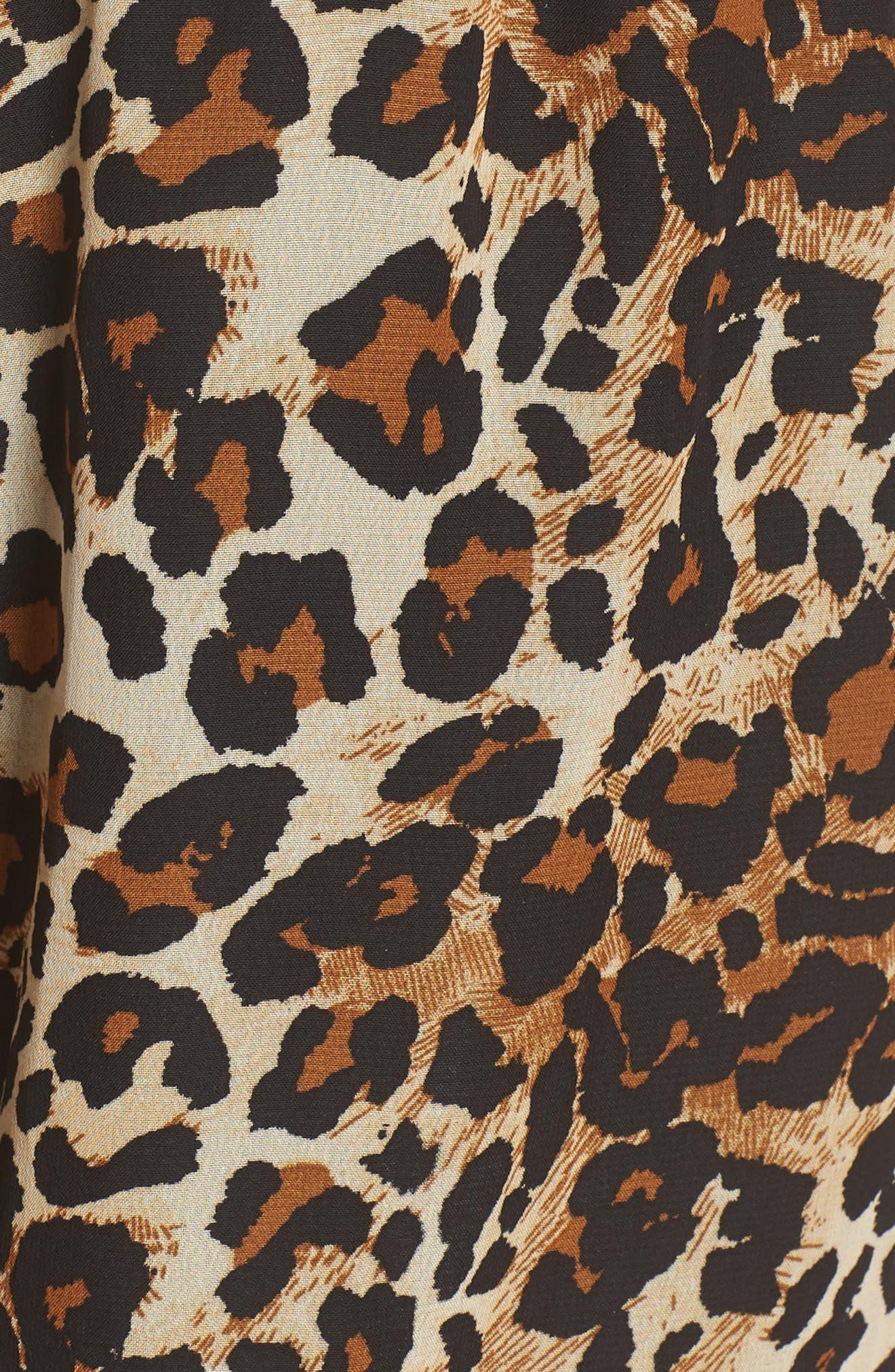 Leopard Print Halter Romper,                             Alternate thumbnail 6, color,                             EXPLODED CHEETAH