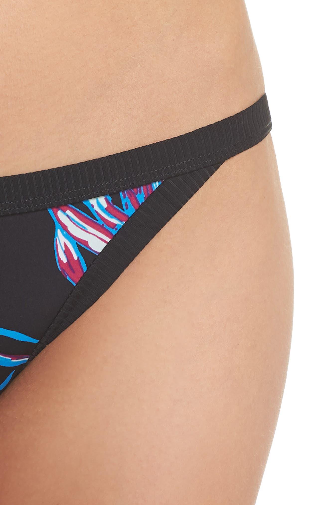 Koko Quick Dry Bikini Bottoms,                             Alternate thumbnail 4, color,                             BLACK