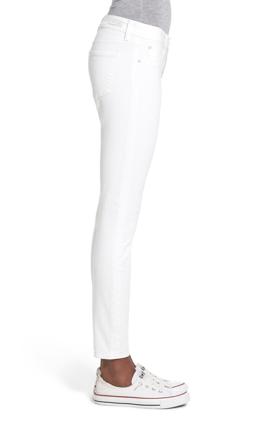 'Sarah' Skinny Jeans,                             Alternate thumbnail 3, color,                             100