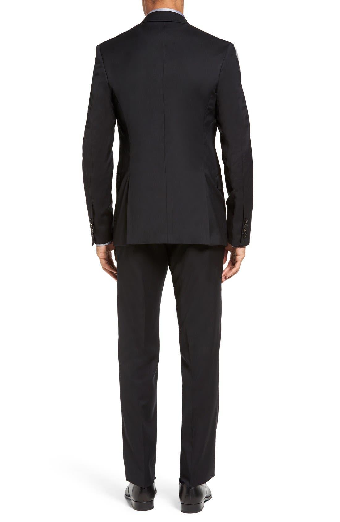 Jones Trim Fit Wool Suit,                             Alternate thumbnail 11, color,                             001