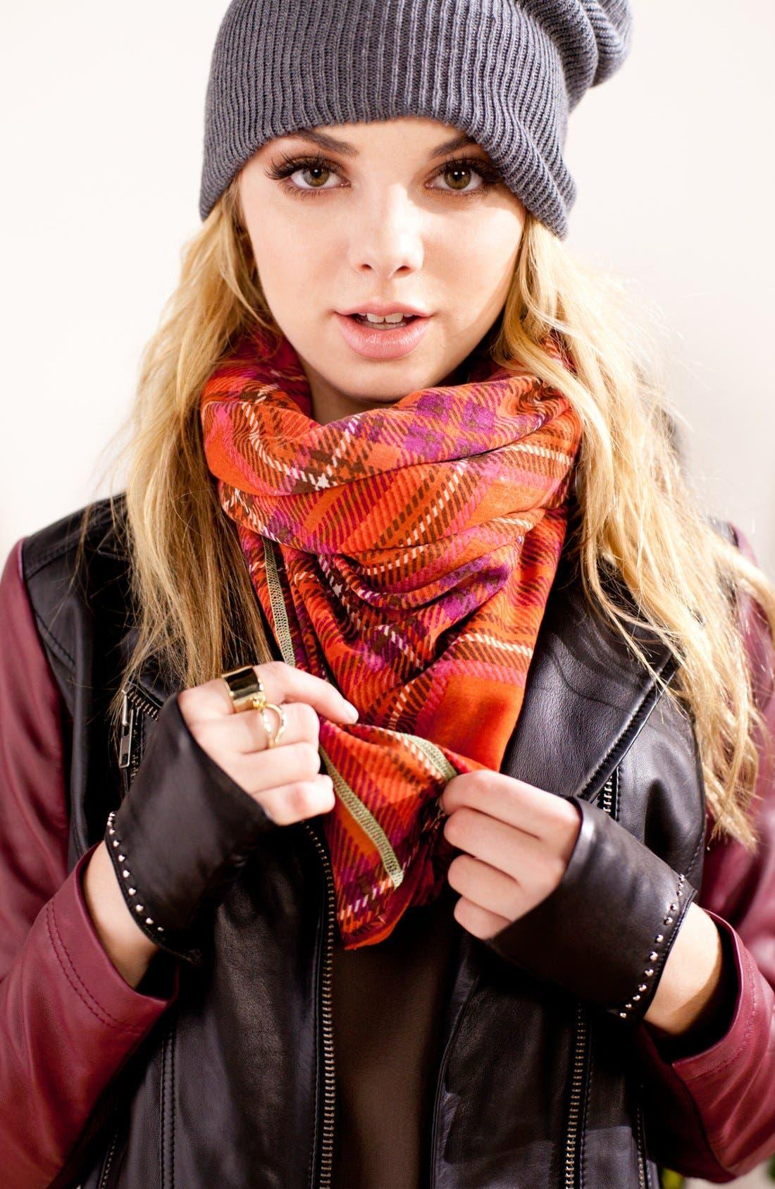 'Seasonless' Slouchy Knit Cap,                             Alternate thumbnail 3, color,                             001