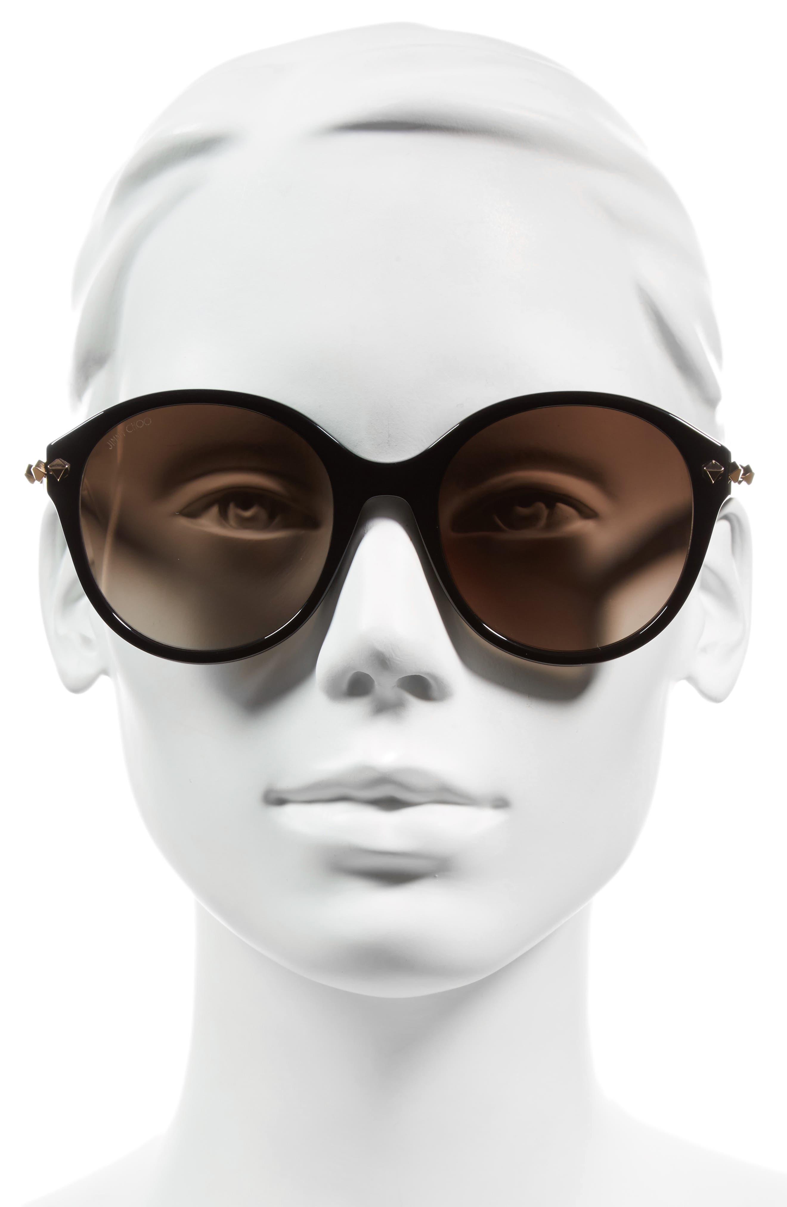 55mm Oversized Sunglasses,                             Alternate thumbnail 3, color,                             001