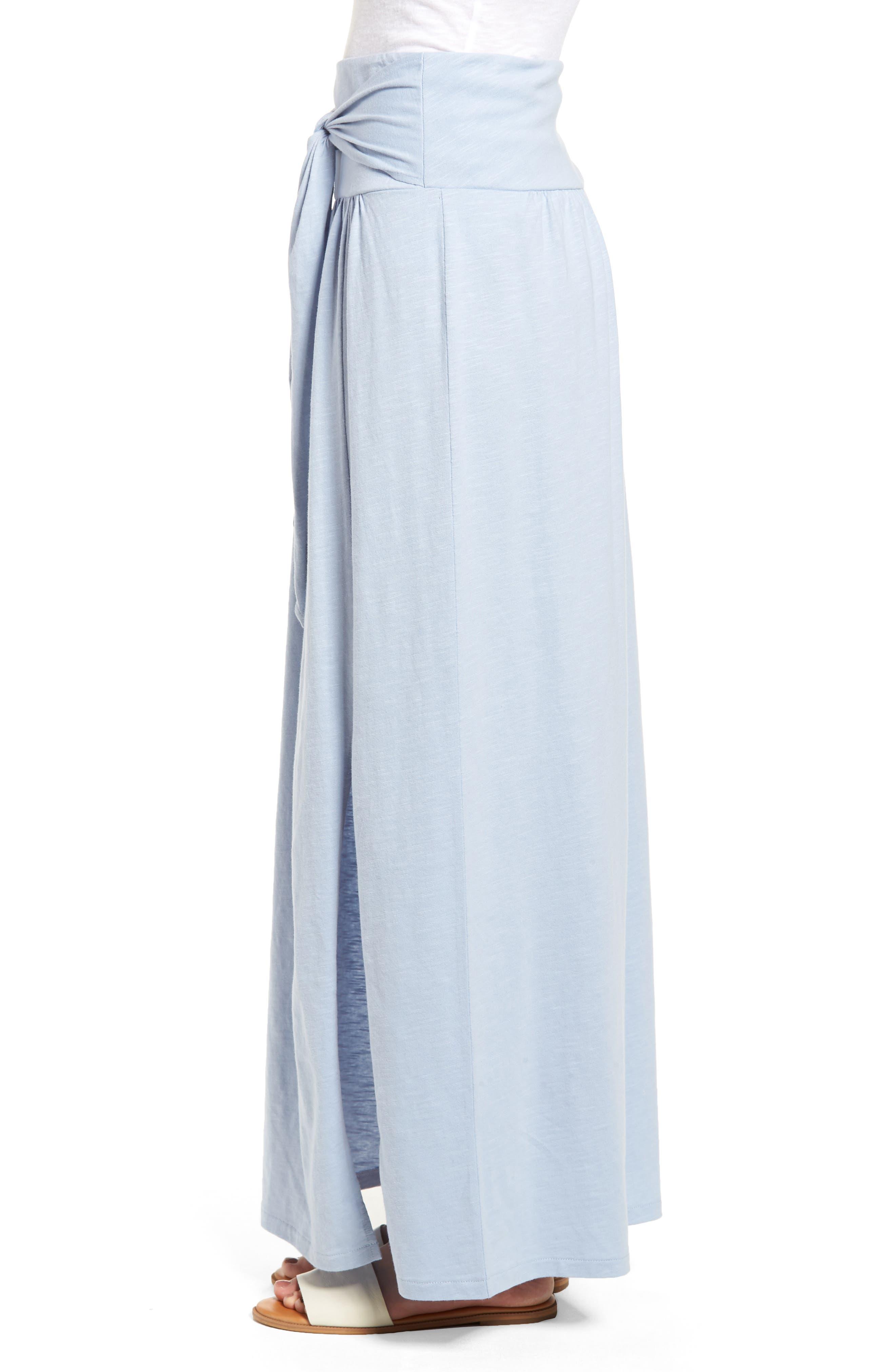 Tie Front Cotton Maxi Skirt,                             Alternate thumbnail 14, color,
