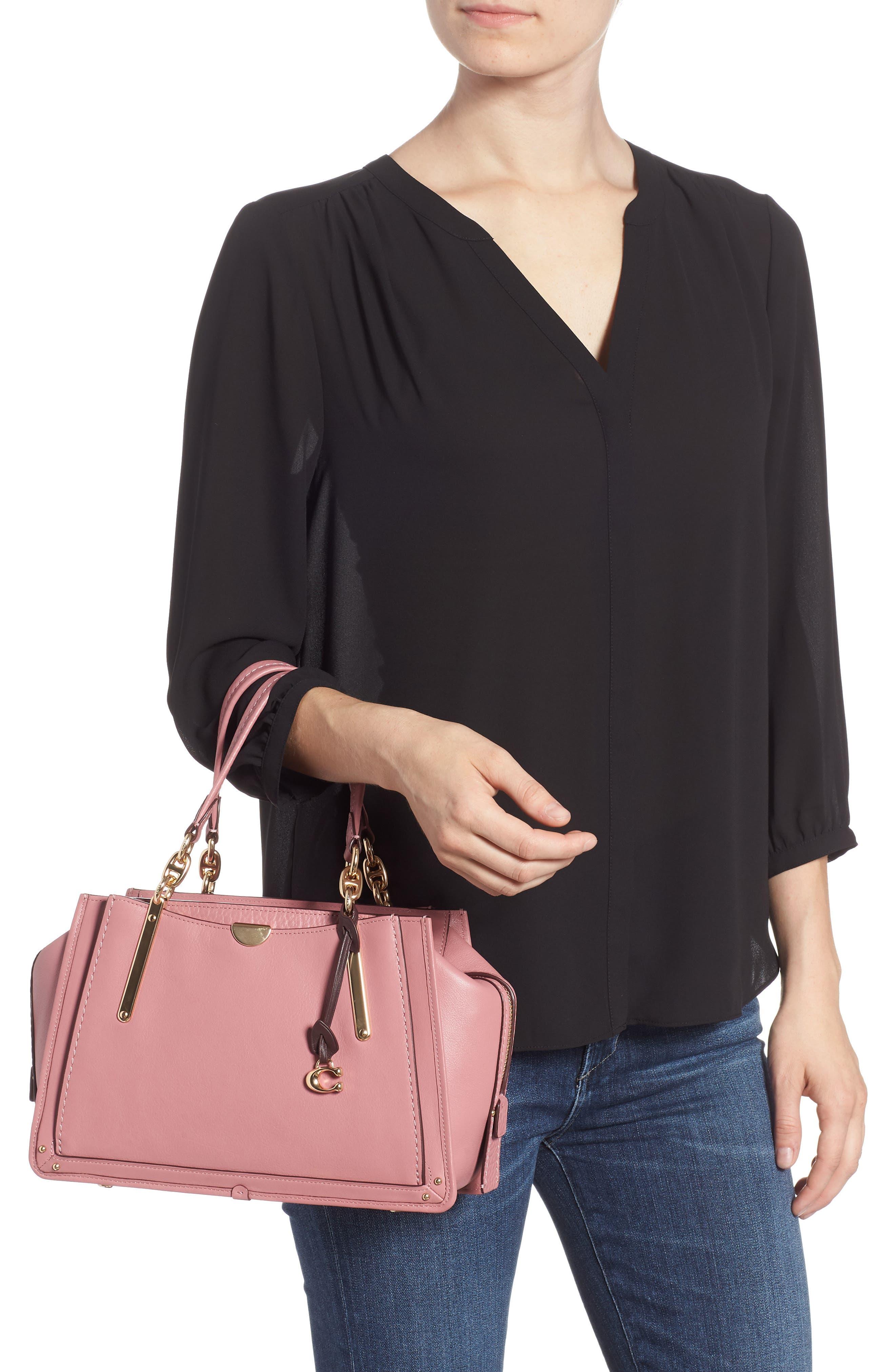 Dreamer Leather Handbag,                             Alternate thumbnail 2, color,                             ROSE MULTI