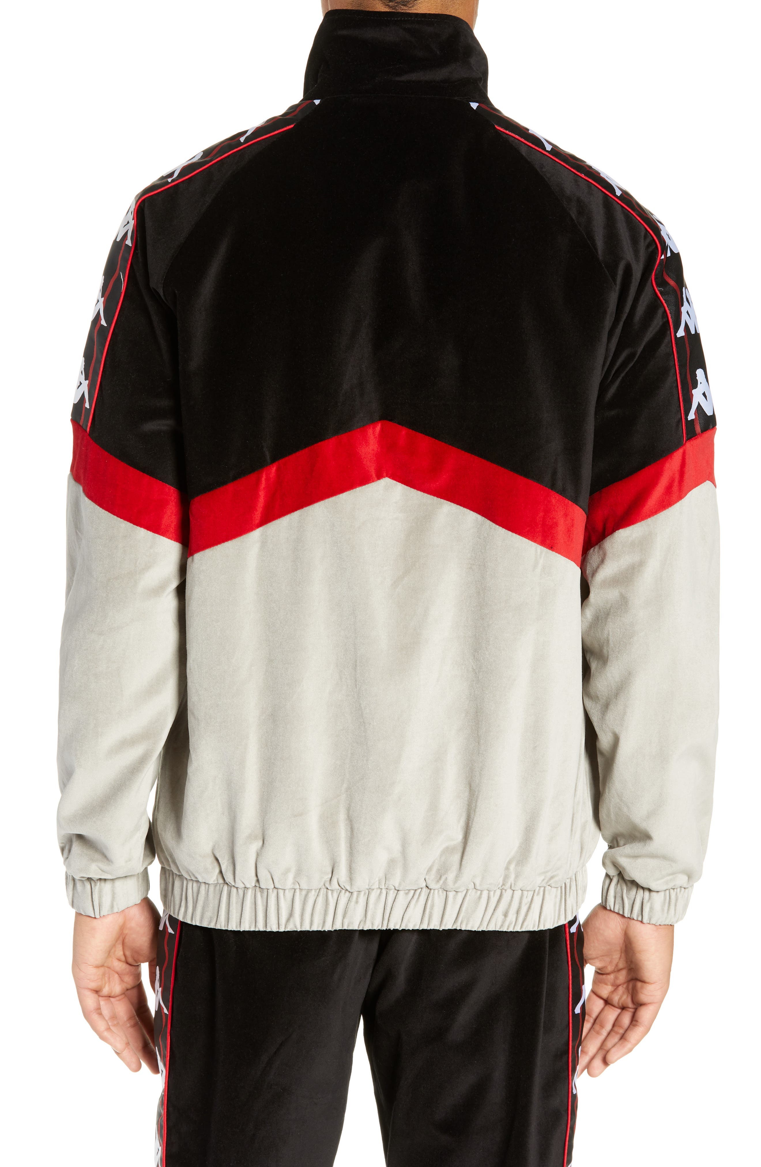 Authentic Cabrini Track Jacket,                             Alternate thumbnail 2, color,                             BLACK/ RED/ GREY